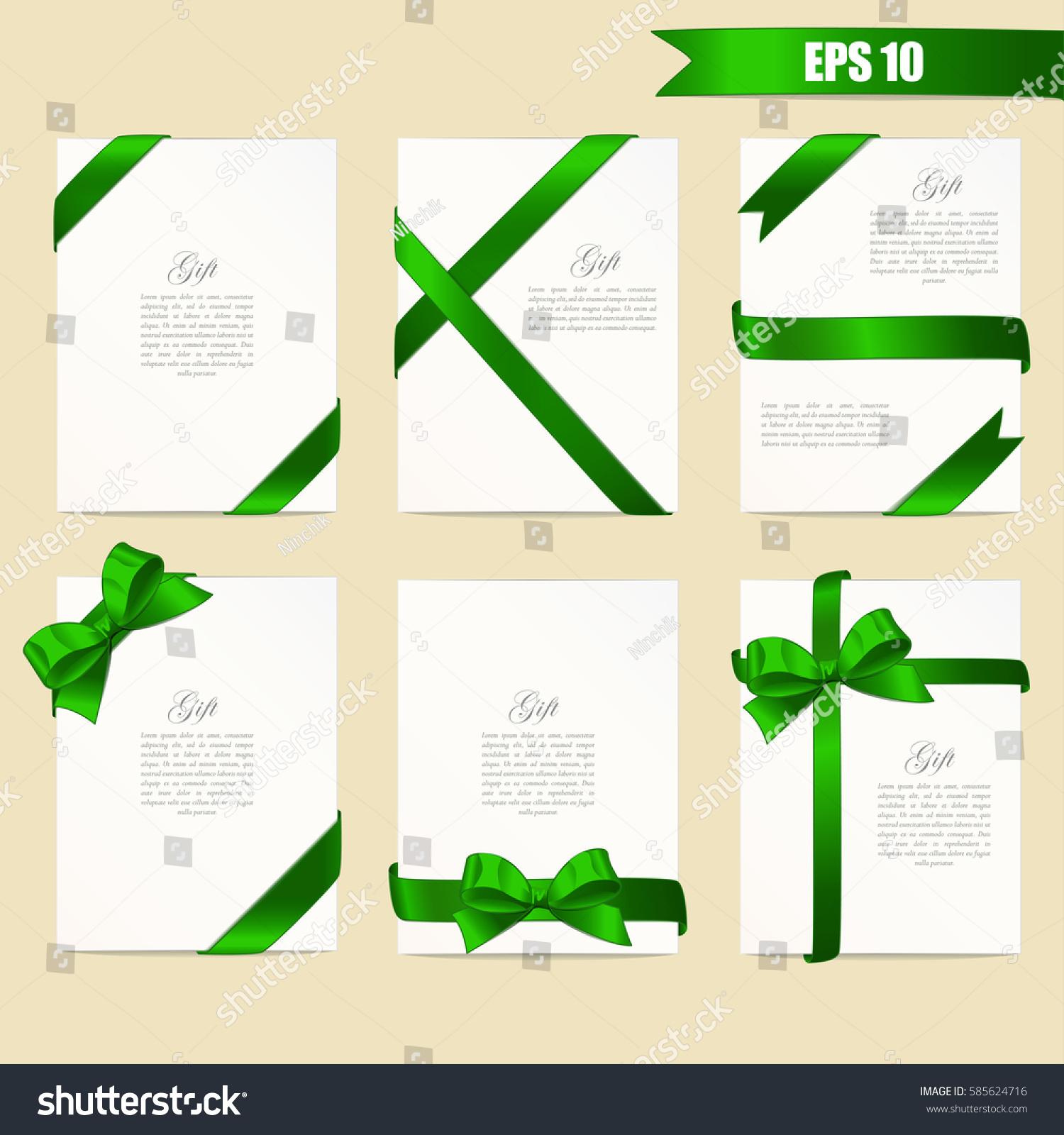 Set Gift Card Vector Illustration Stock Vector Royalty Free