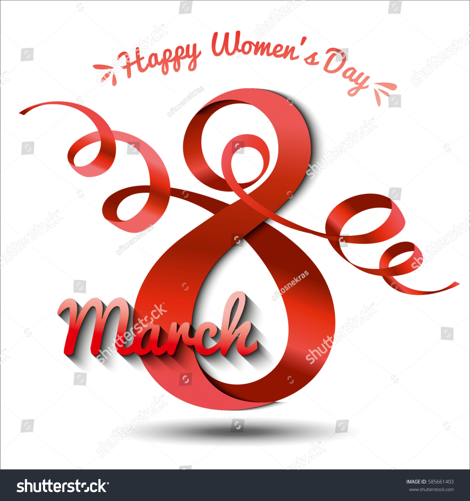 Greeting Cards International Womens Day Eight Stock Vector 585661403