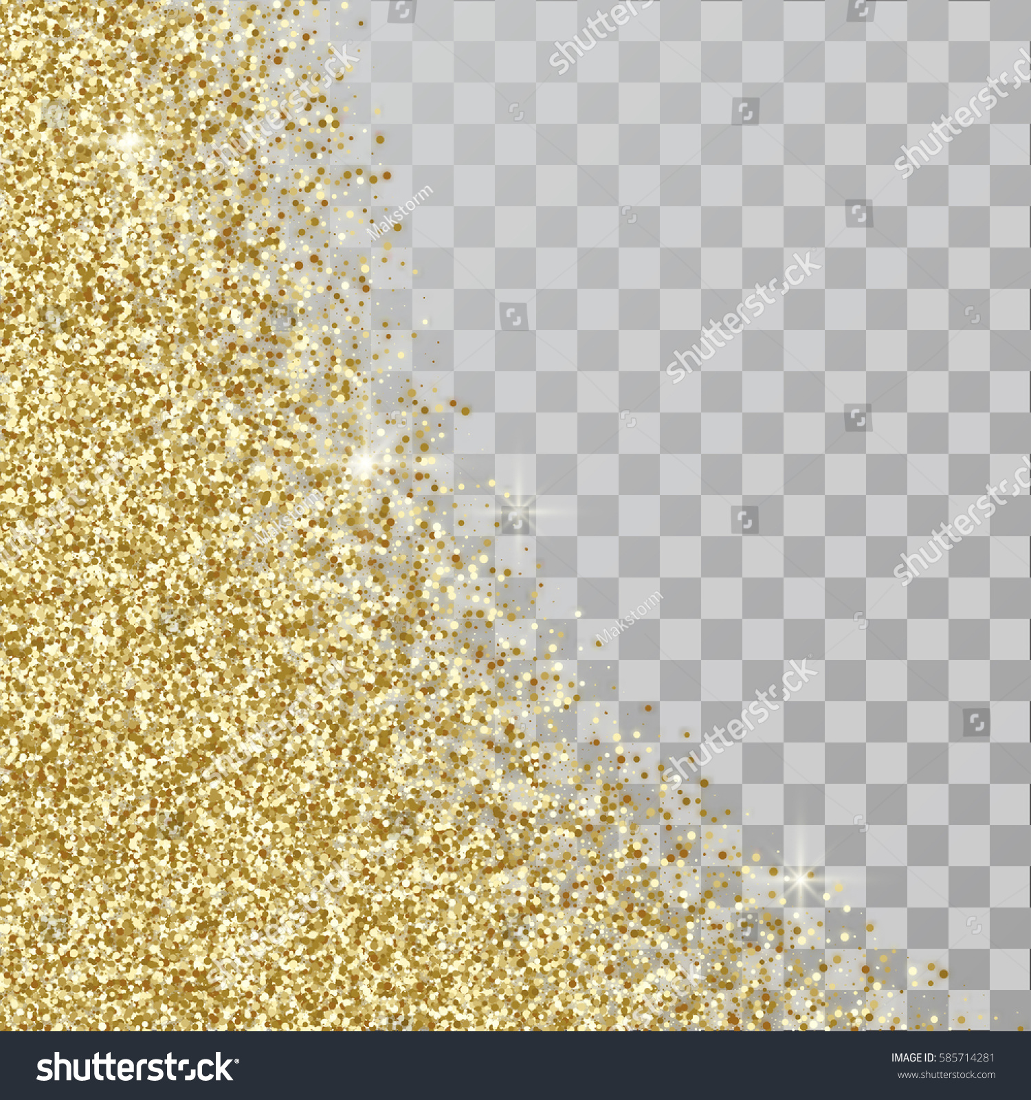 gold glitter abstract background golden sparkles stock vector