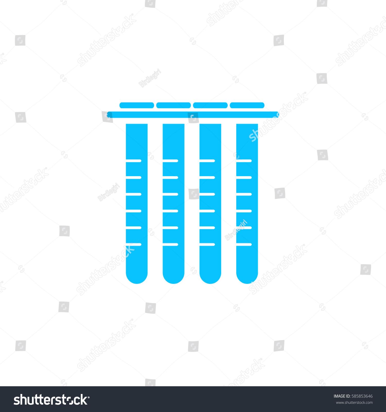 Laboratory Tube Glass Icon Flat Simple Stock Illustration 585853646