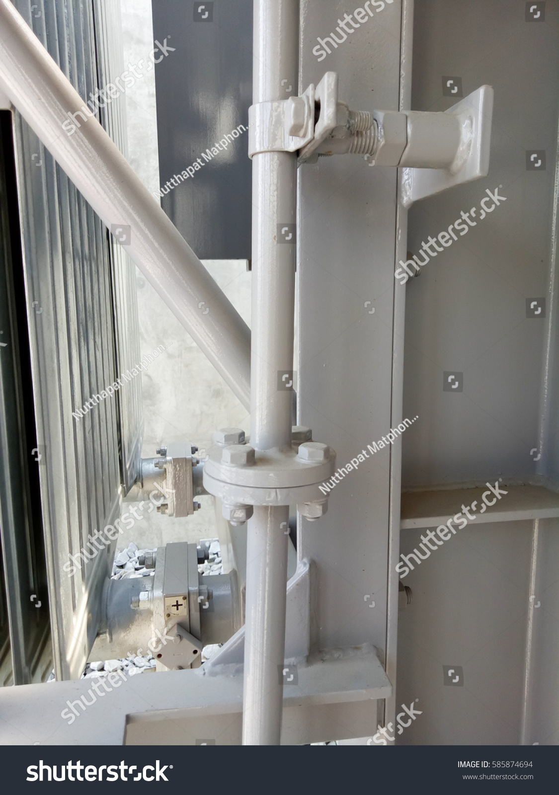 Steel Pipe Support Pipe Pipe Line Stock Photo (Edit Now