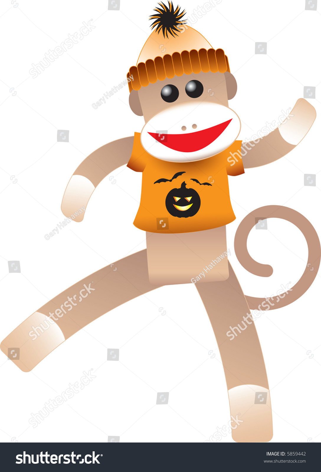 halloween sock monkey stock vector (royalty free) 5859442 - shutterstock