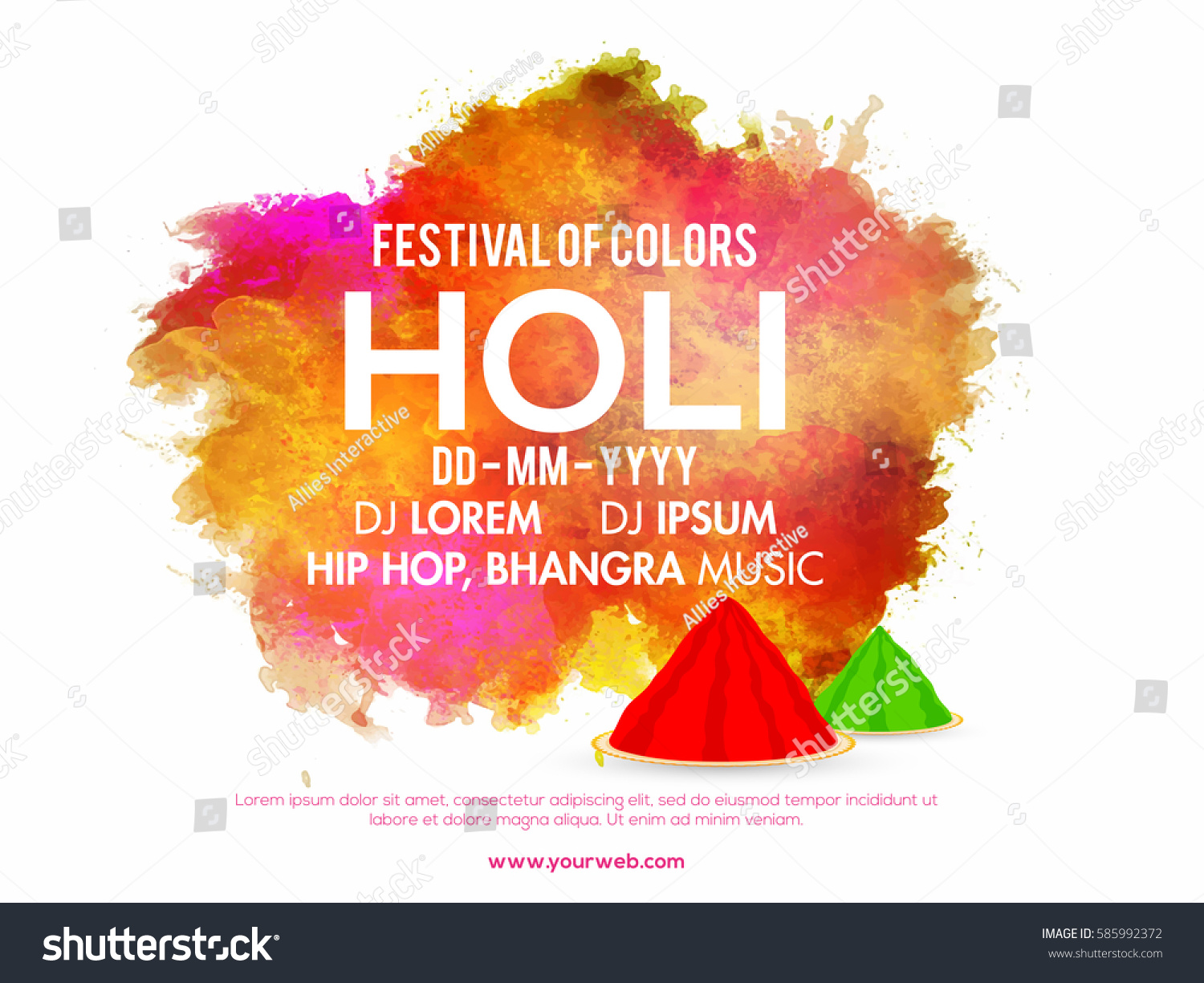D d poster design - Abstract Colorful Splash Decorated Banner Poster Design For Indian Festival Of Colors Holi Party