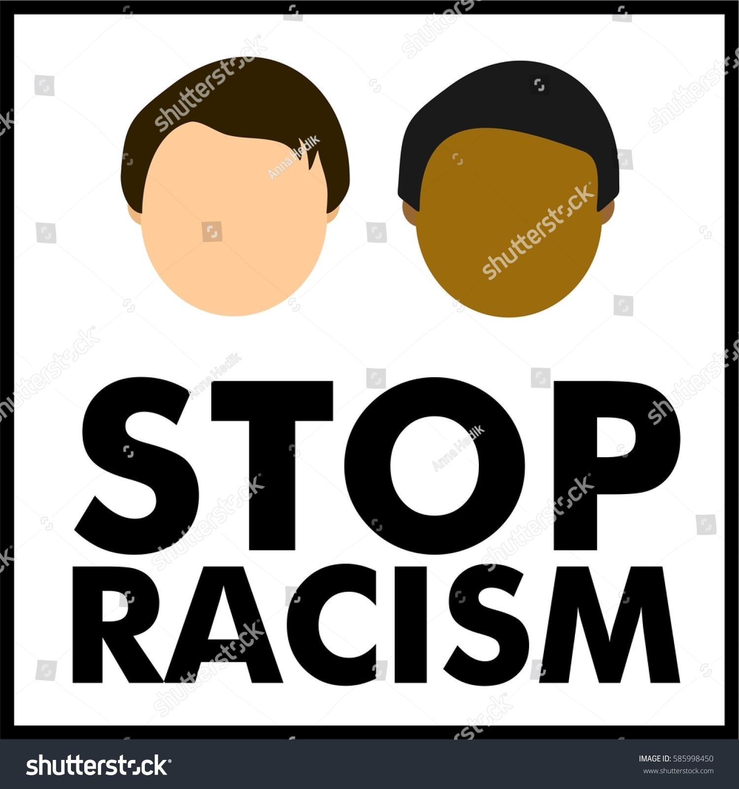 Stop Racism Symbol Logo Stock Vector Royalty Free 585998450
