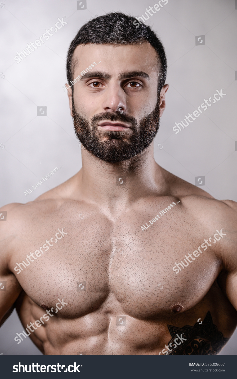 Bearded Bodybuilder With Dumbbells Stock Photo And Royalty Images On Fotolia Pic 113709064