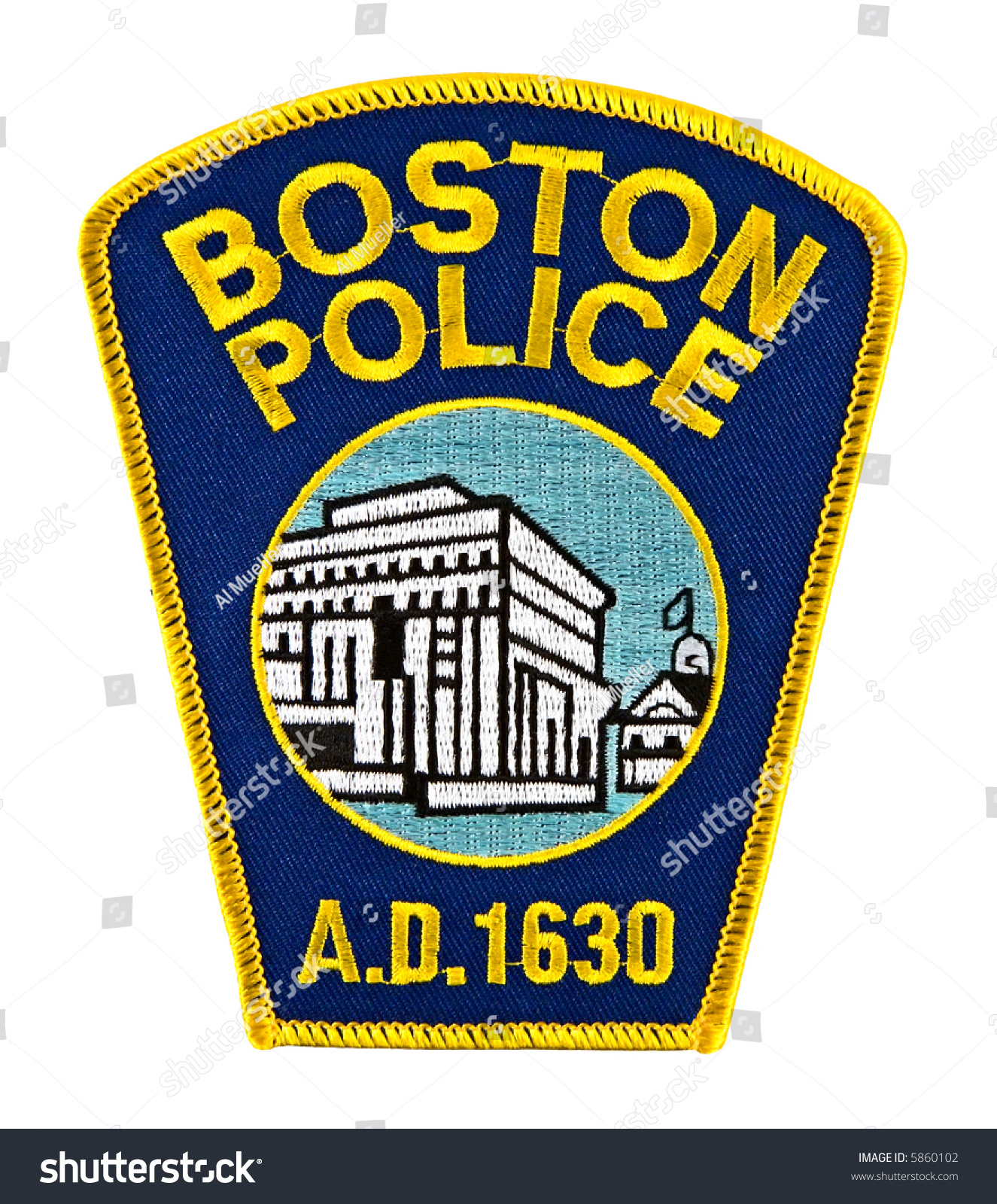 Boston massachusetts police department uniform shoulder for Police patch design template