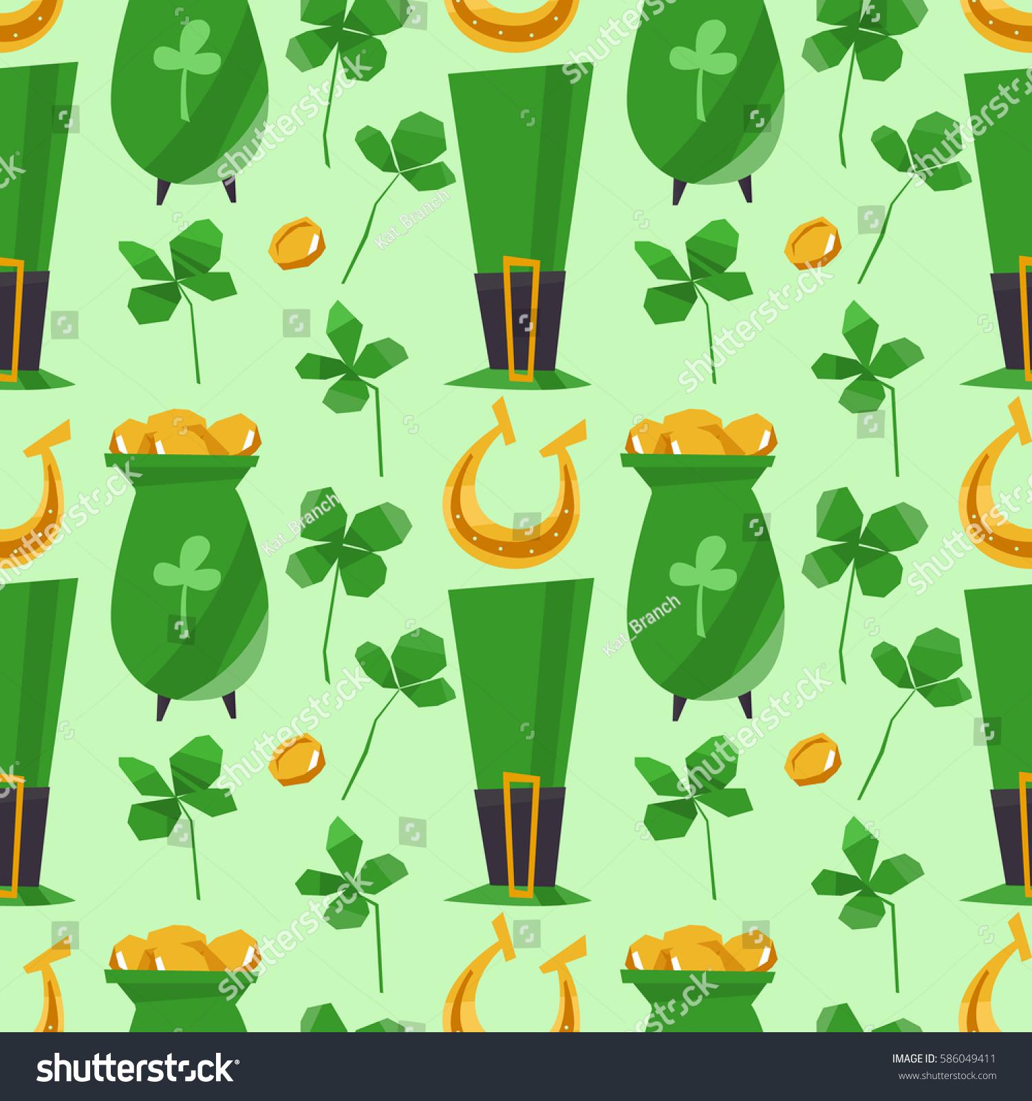 Clover leaf seamless pattern vector illustration stock vector a clover leaf seamless pattern vector illustration st patricks day symbol irish lucky shamrock biocorpaavc Gallery