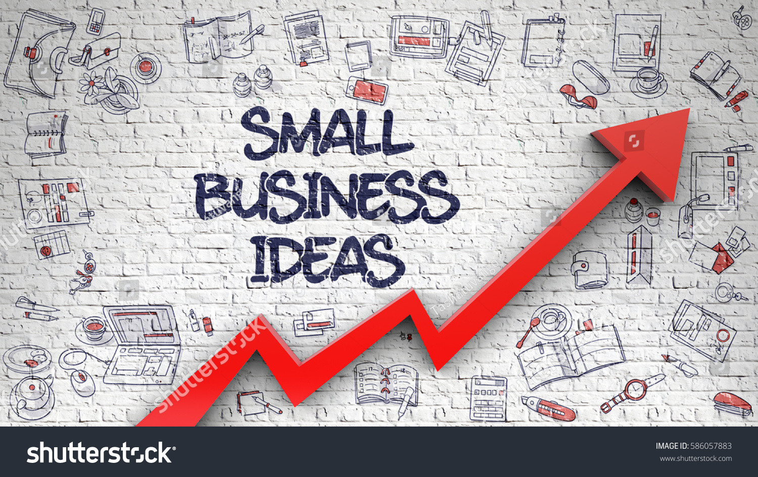 Small Business Ideas Modern Line Style Stock Illustration ...