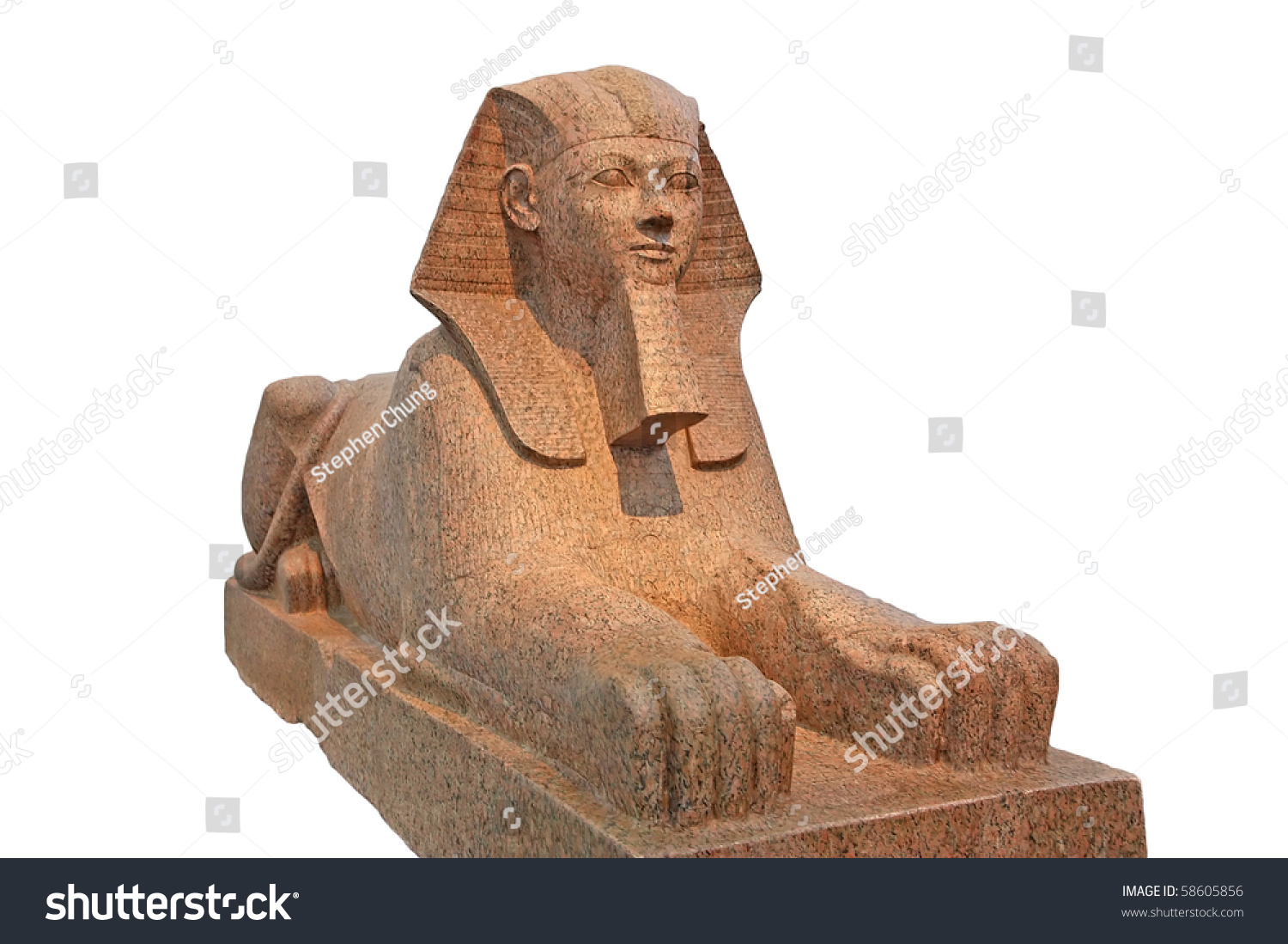 worksheet Sphinx Statue egyptian sphinx statue isolated stock photo 58605856 shutterstock isolated