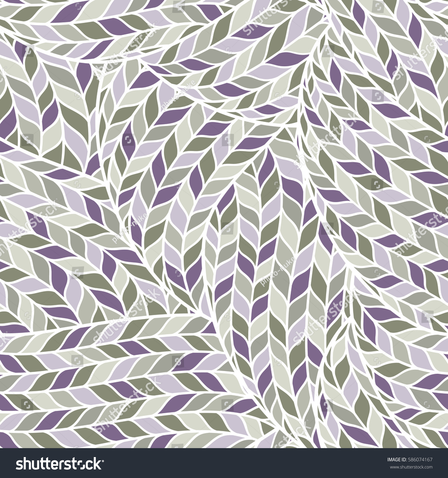 Seamless Pattern Knitting Braids Endless Texture Stock Vector ...