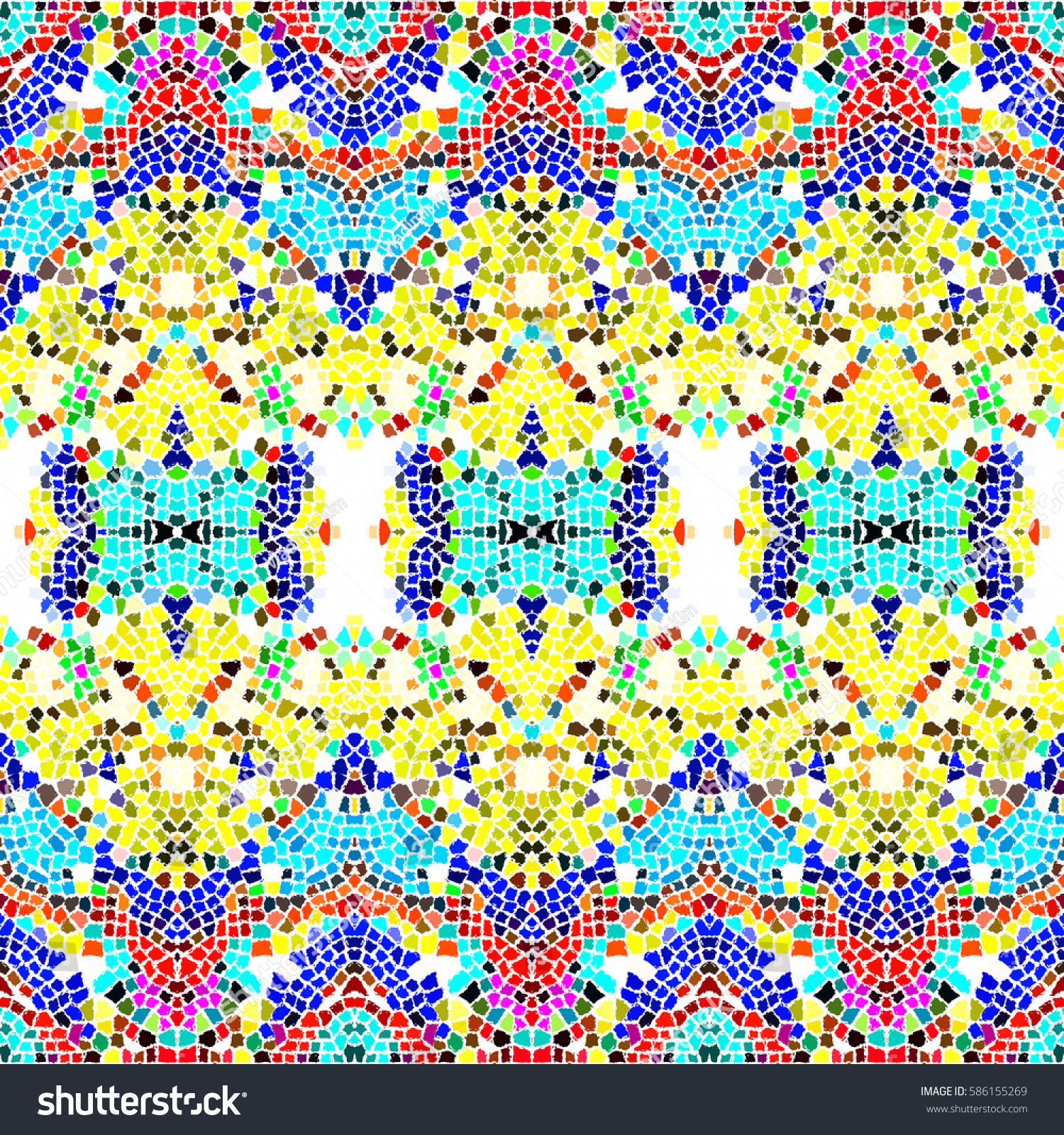 Mosaic square colorful pattern for wallpapers, ceramic tiles, design ...