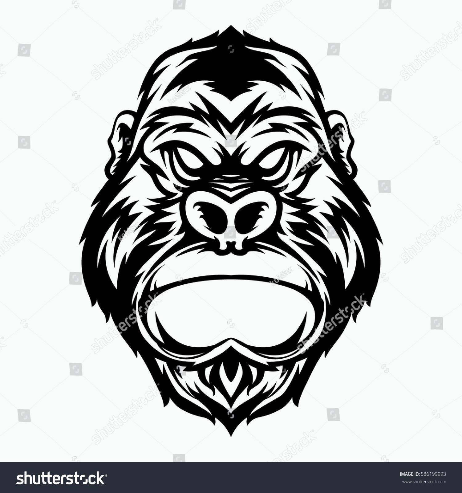 Gorilla Head Vector Images over 1900  VectorStock