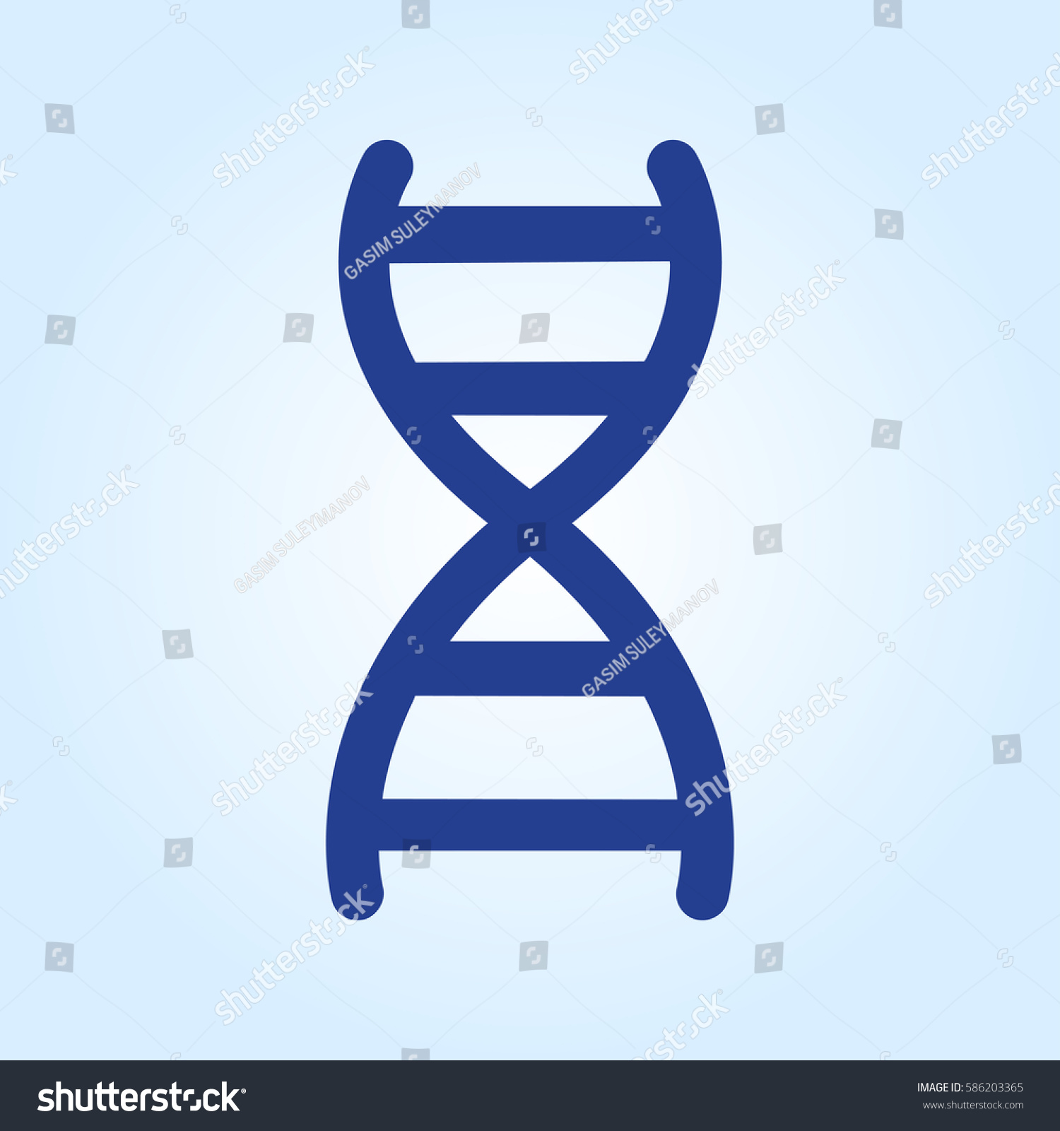 Gray Dna View Icon Isolated On Stock Vector 2018 586203365