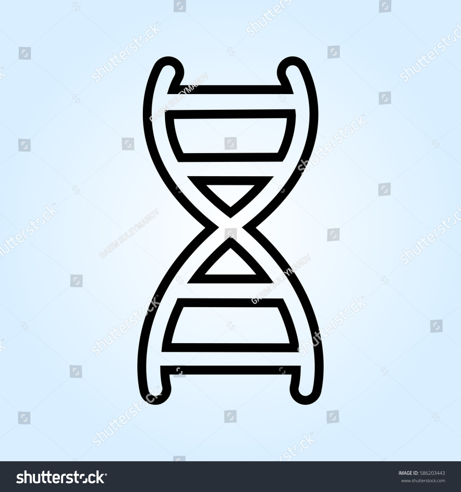 Gray Dna View Icon Isolated On Stock Vector 2018 586203443
