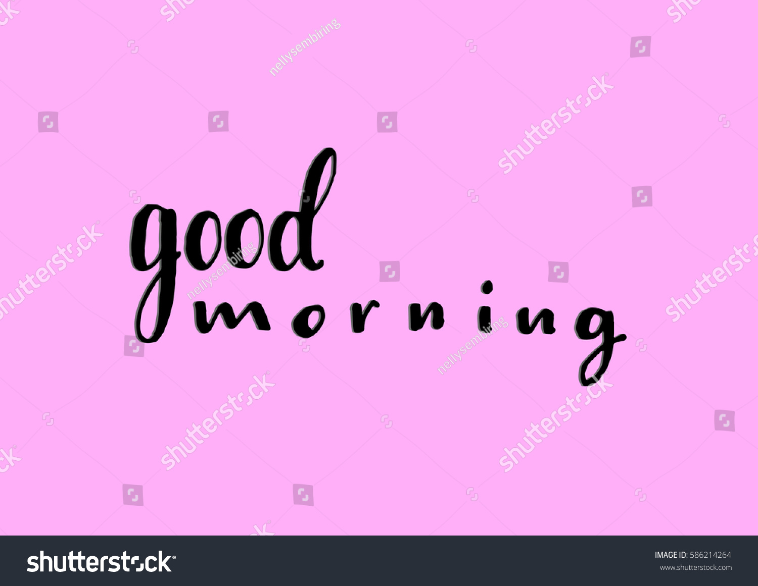 Good Morning Hand Lettered Quote Modern Stock Photo Photo Vector