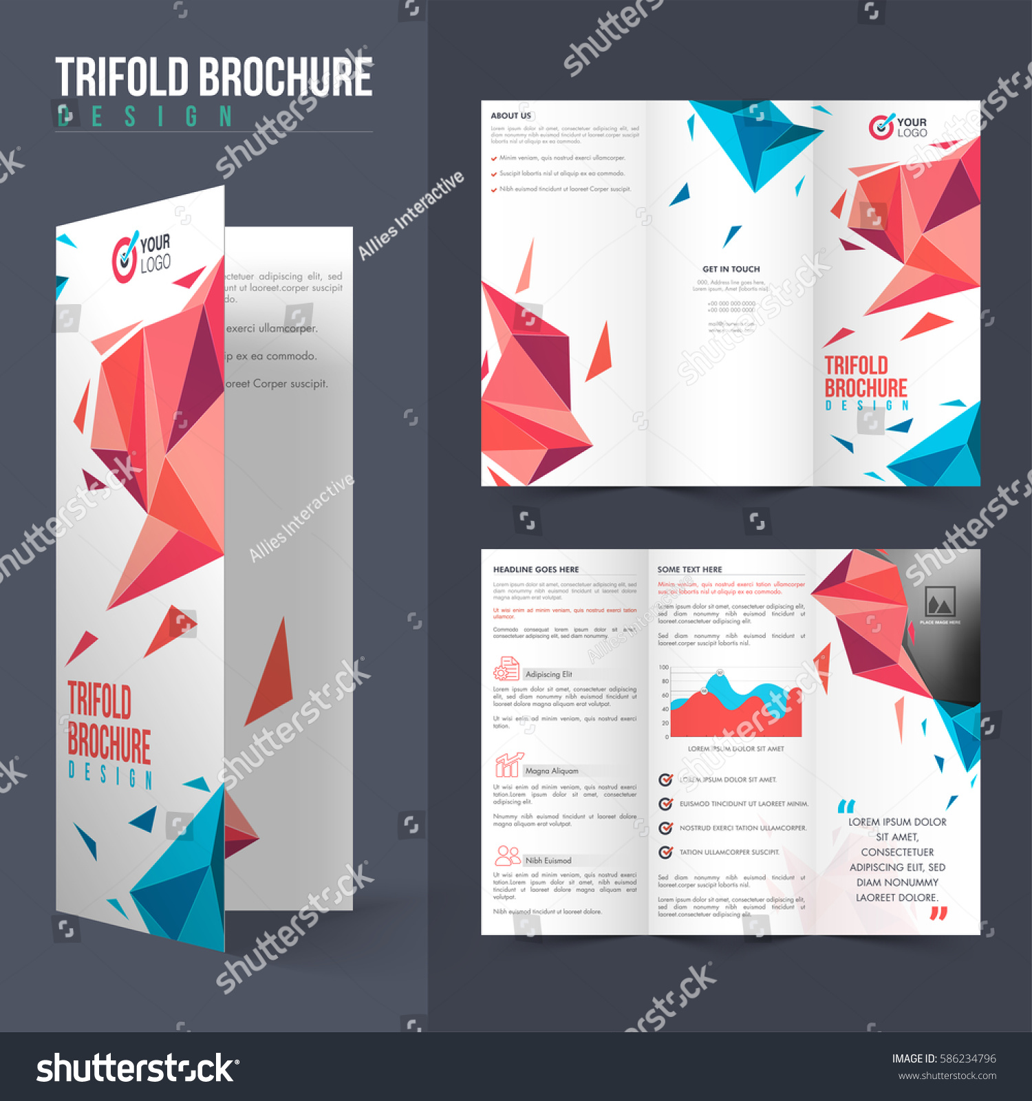 tri fold brochure layout