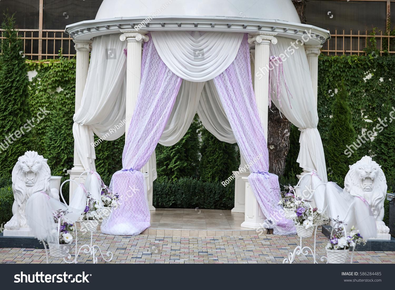 Wedding decor outside flowers stock photo royalty free 586284485 wedding decor outside with flowers junglespirit Gallery