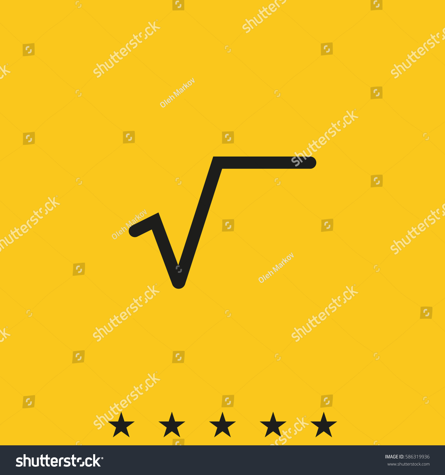 Square root symbol flat icon stock illustration 586319936 shutterstock square root symbol flat icon buycottarizona Images