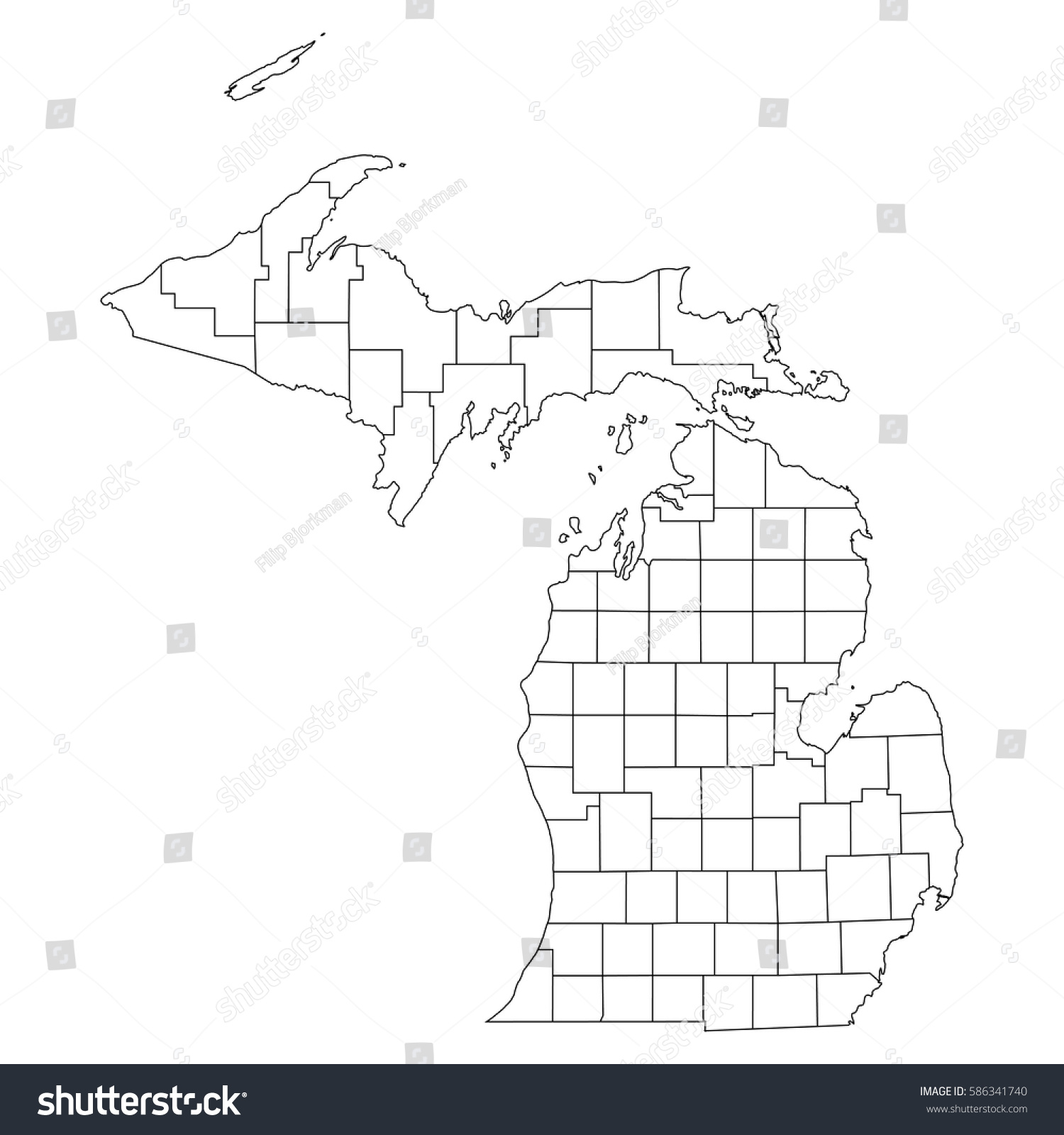 Map Of Counties In Michigan Blank Map Usa - Michigan map of counties