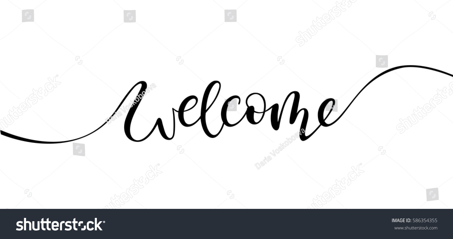 Welcome Lettering Sign Stock Vector 586354355 Shutterstock