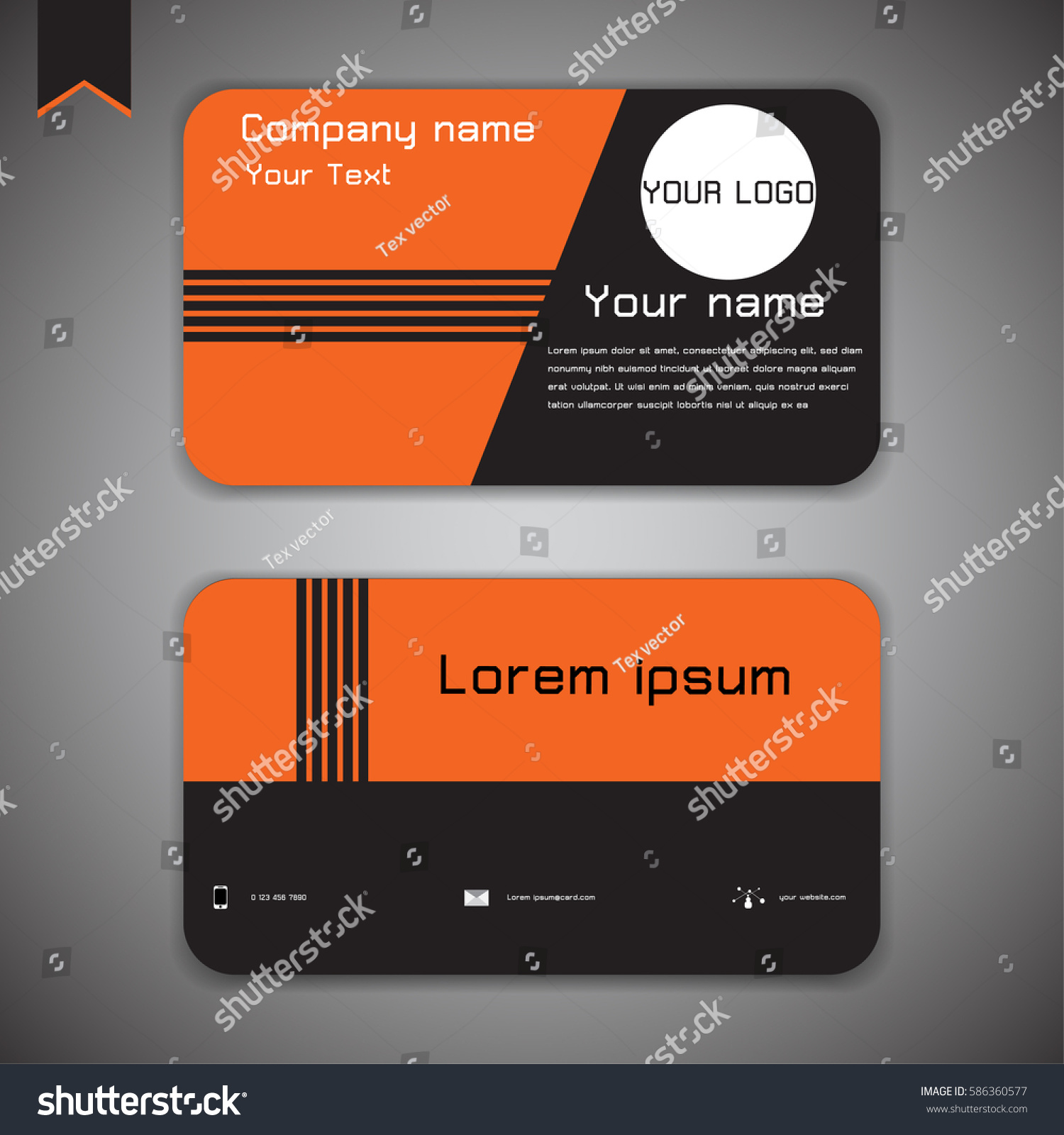 business card modern abstract geometric background stock vector