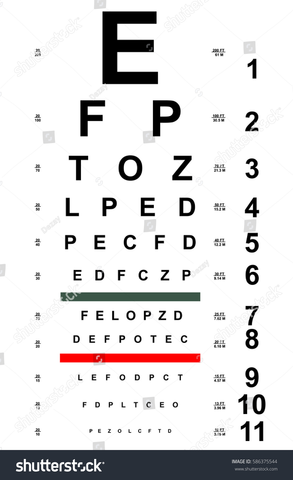 Chart test table letters eye examination stock vector 586375544 chart test table with letters for eye examination eye chart test for ophthalmologist doctor geenschuldenfo Gallery