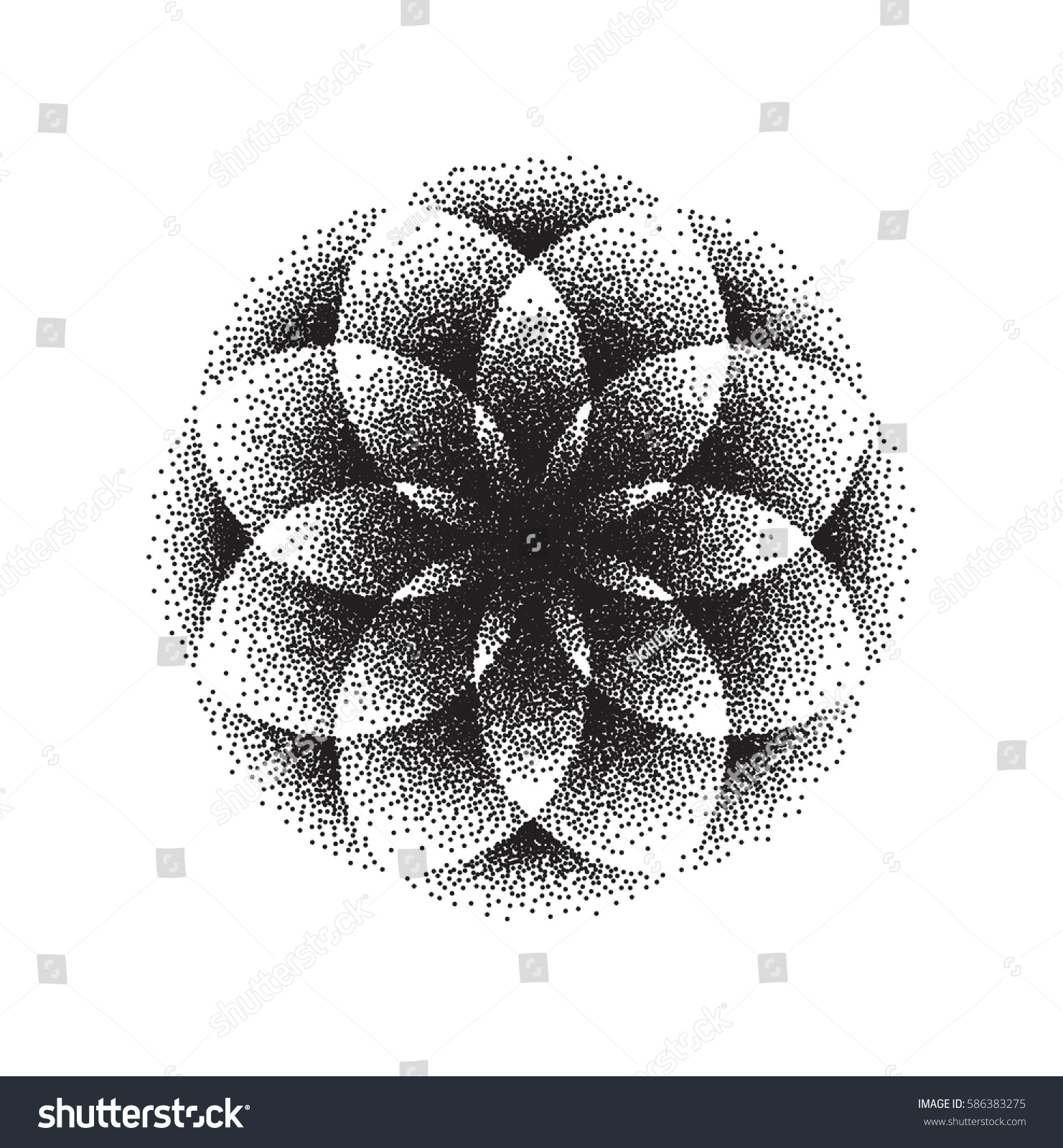 Sacred Geometry Lotus Flower Mandala Ornament Stock Vector Royalty