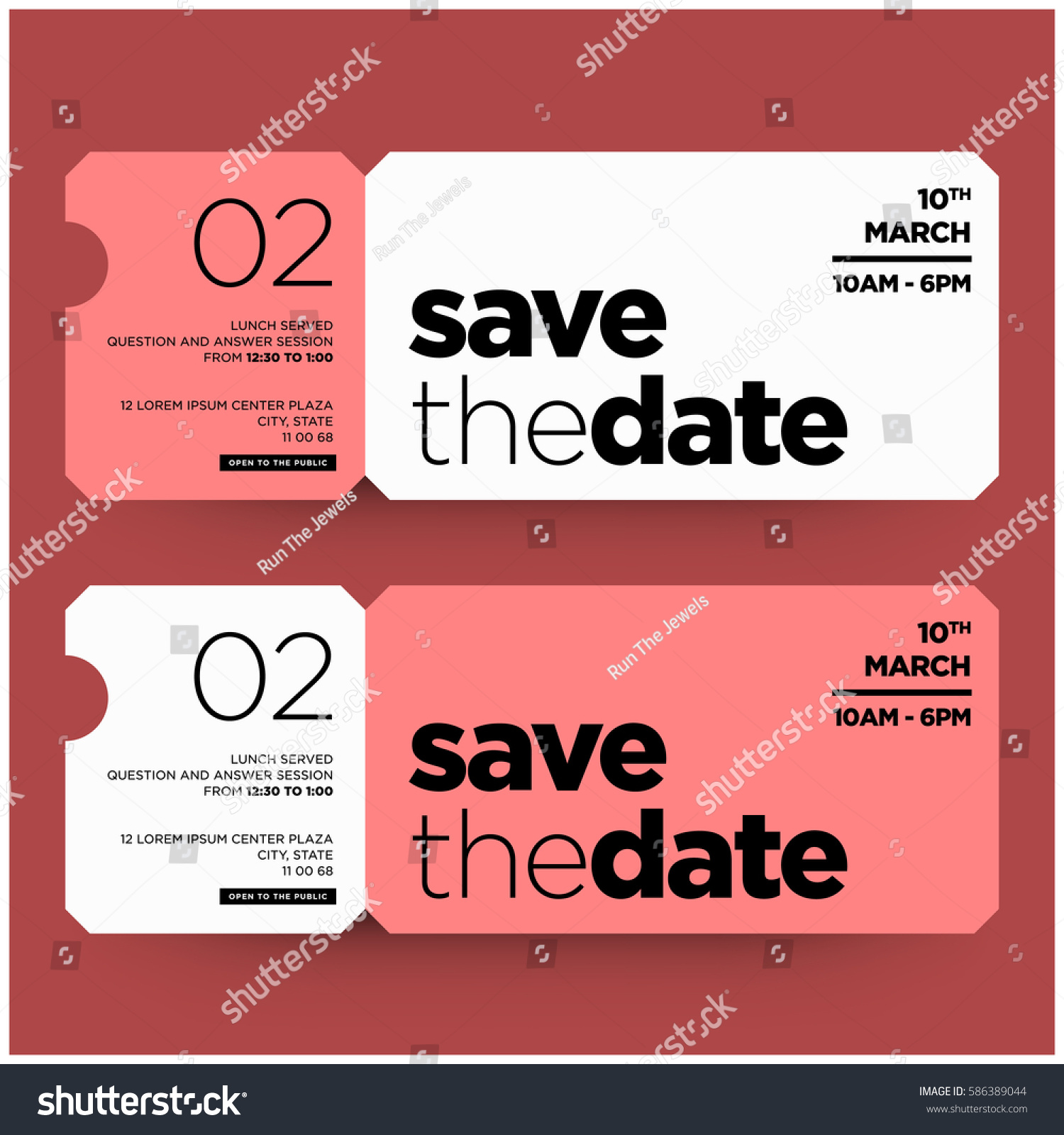 Save date minimalist modern invitation design stock vector 2018 save the date minimalist modern invitation design stopboris Images