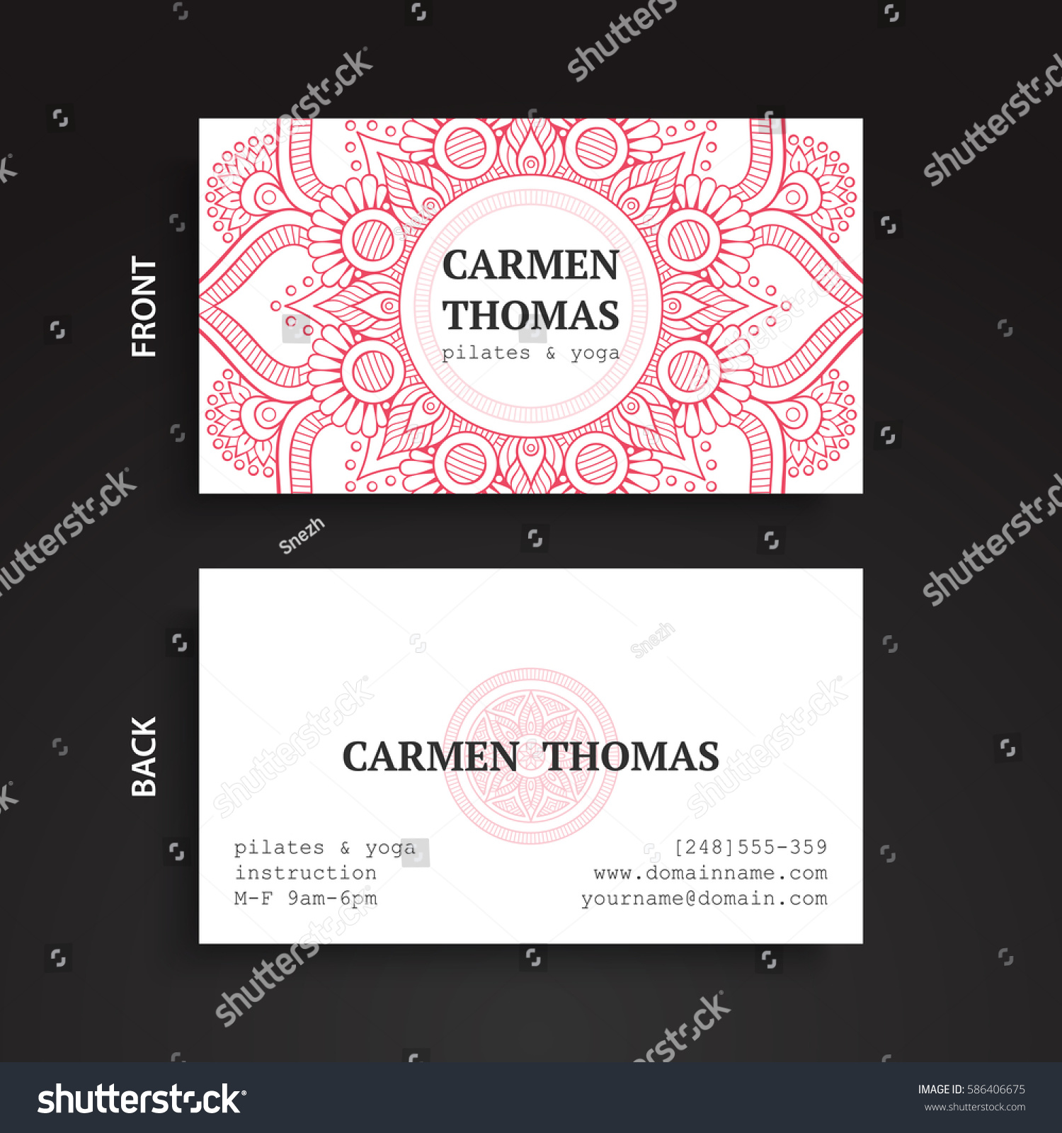 Luxury Business Cards Vintage Decorative Elements Stock Vector ...