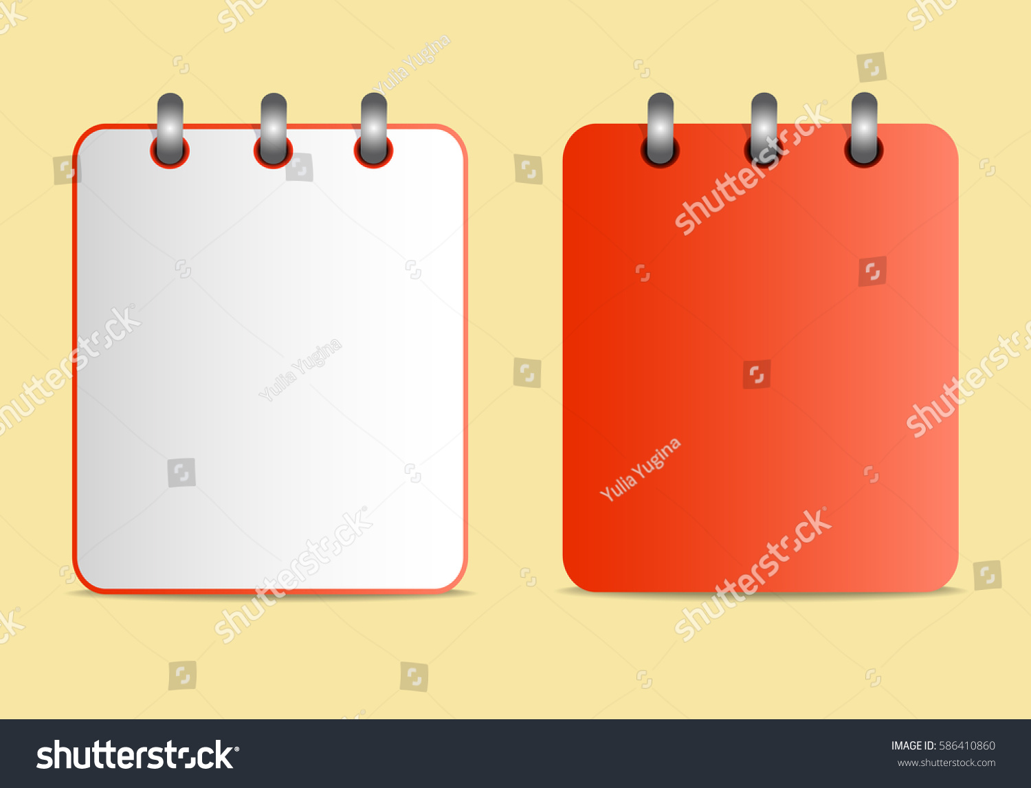 Icon Notebook Red Color Two Variants Stock Illustration 586410860 ...