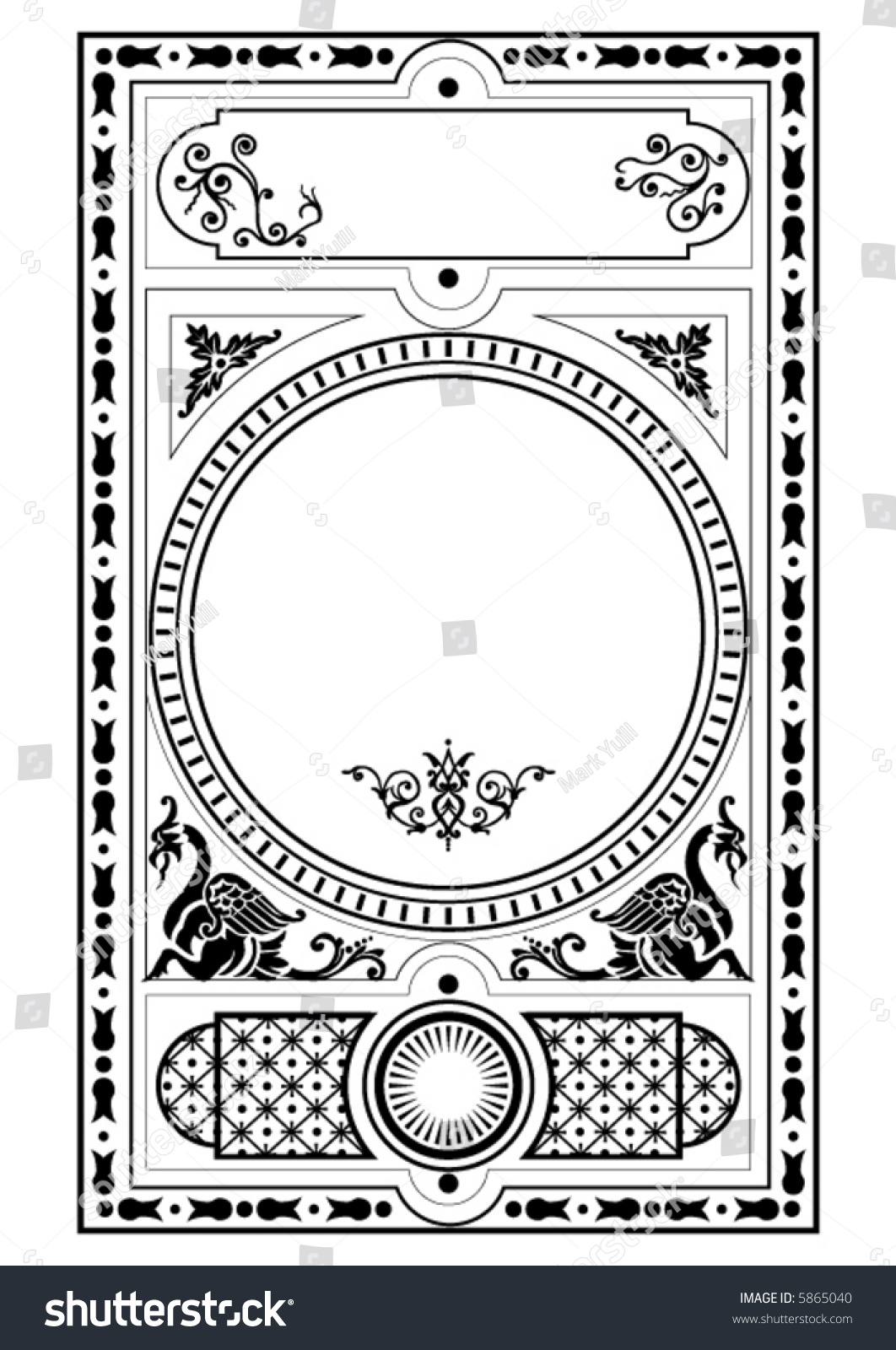 Victorian Design Elements victorian gothic decorative design elements stock vector 5865040
