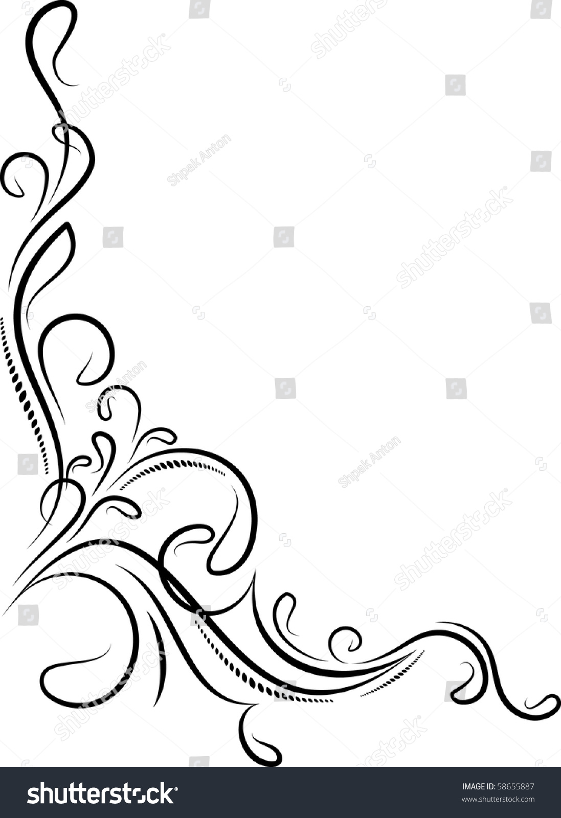Decorative Corner. Stock Vector Illustration 58655887 ...
