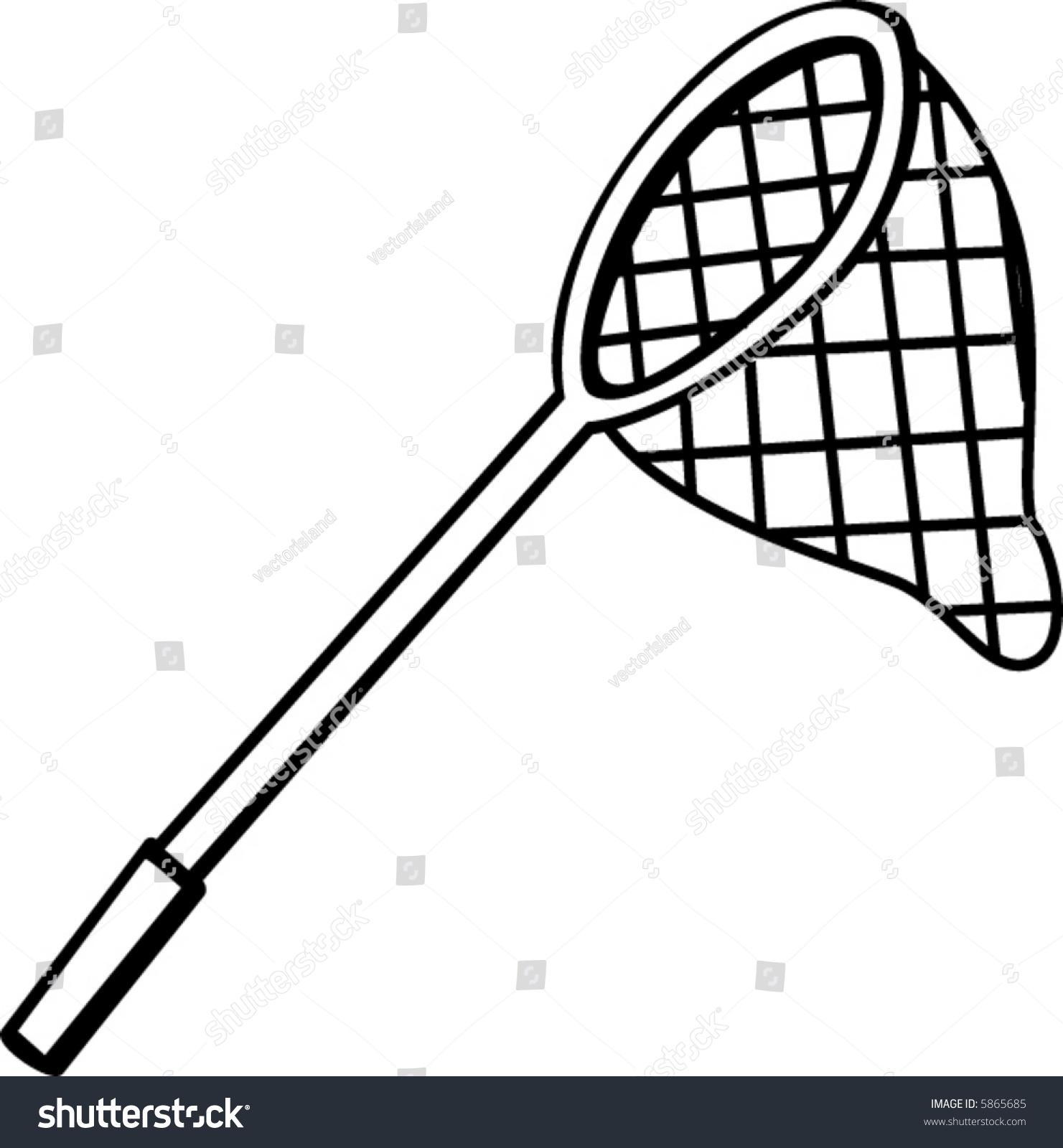 Line Drawing Net : Fishing hunting net stock vector  shutterstock