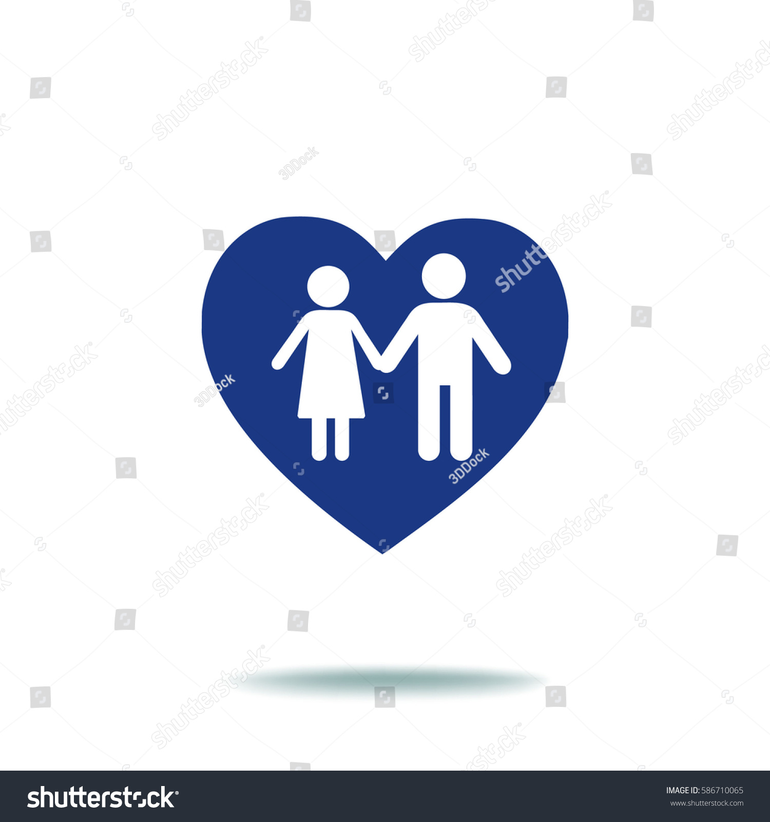 Flat Icon Family Love Between Husband Stock Vector ...