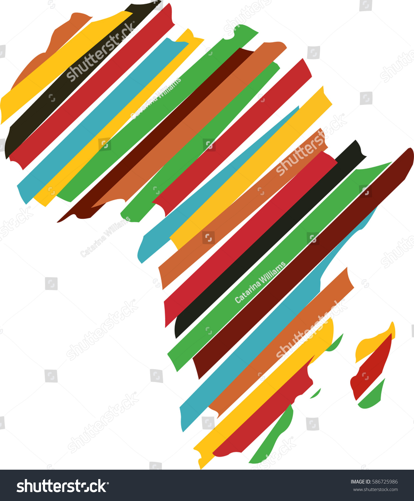 Africa Map Silhouette Icon Vector Illustration Graphic Design Abstract Logo Color