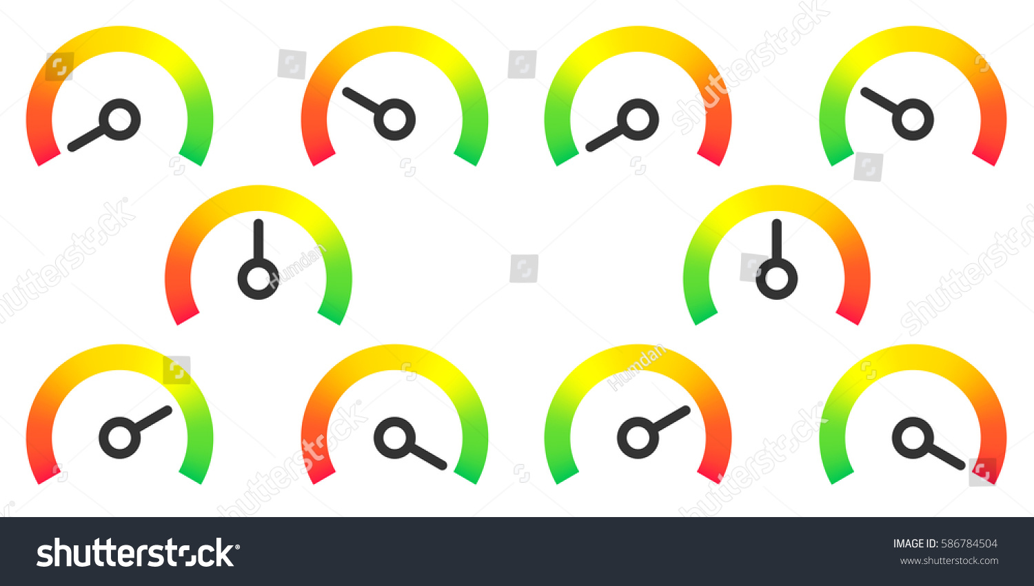 Meter Signs Infographic Gauge Element Red Stock Photo (Photo, Vector ...