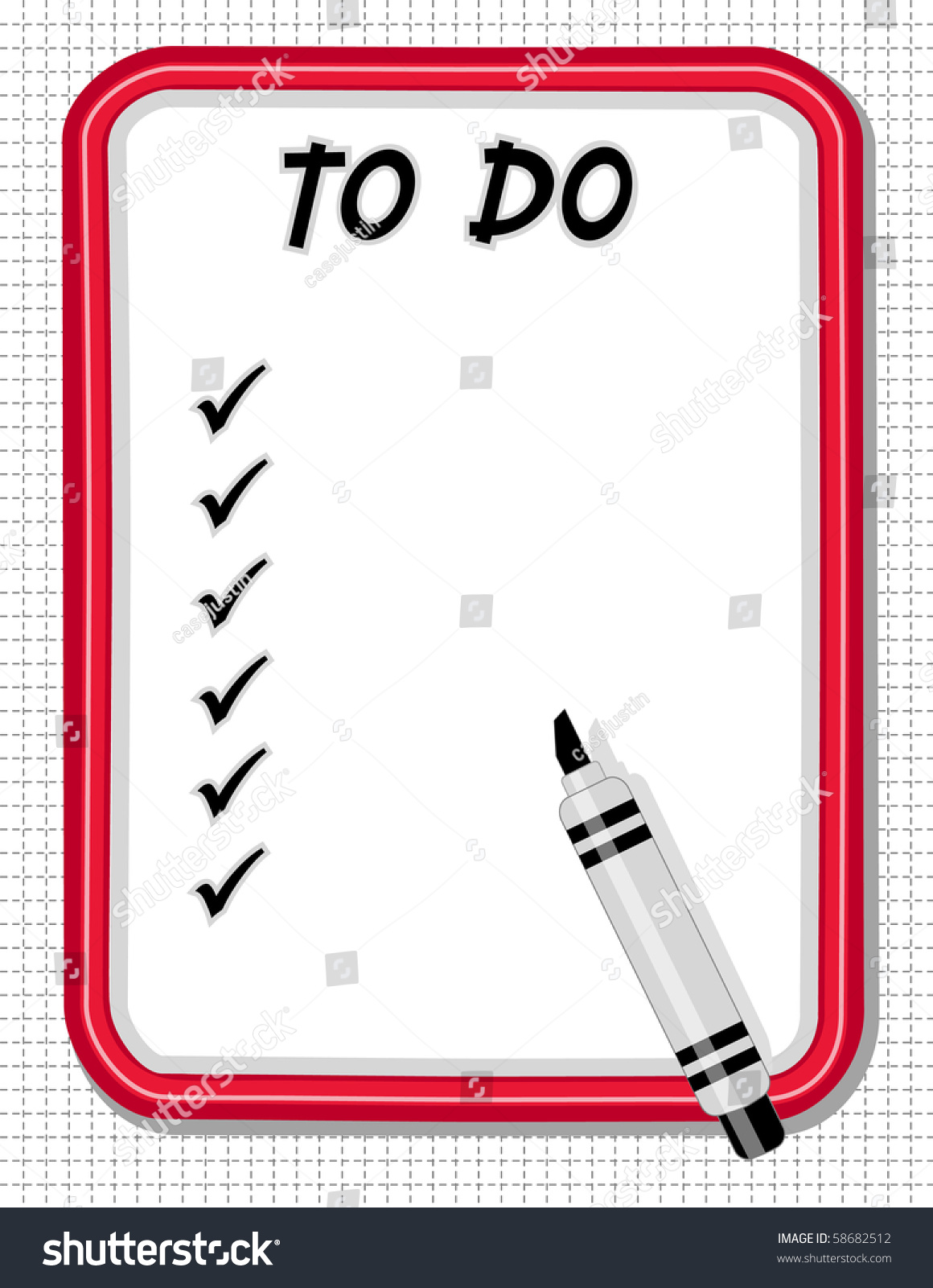 Do It Yourself Home Design: To Do Check List Whiteboard, Marker Pen. Copy Space For