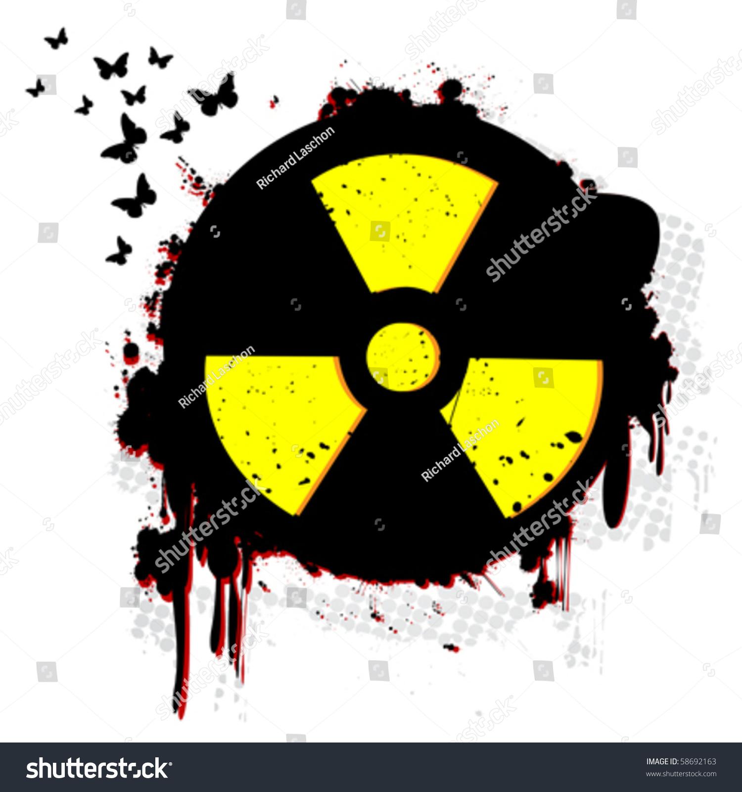 Тату в виде радиации