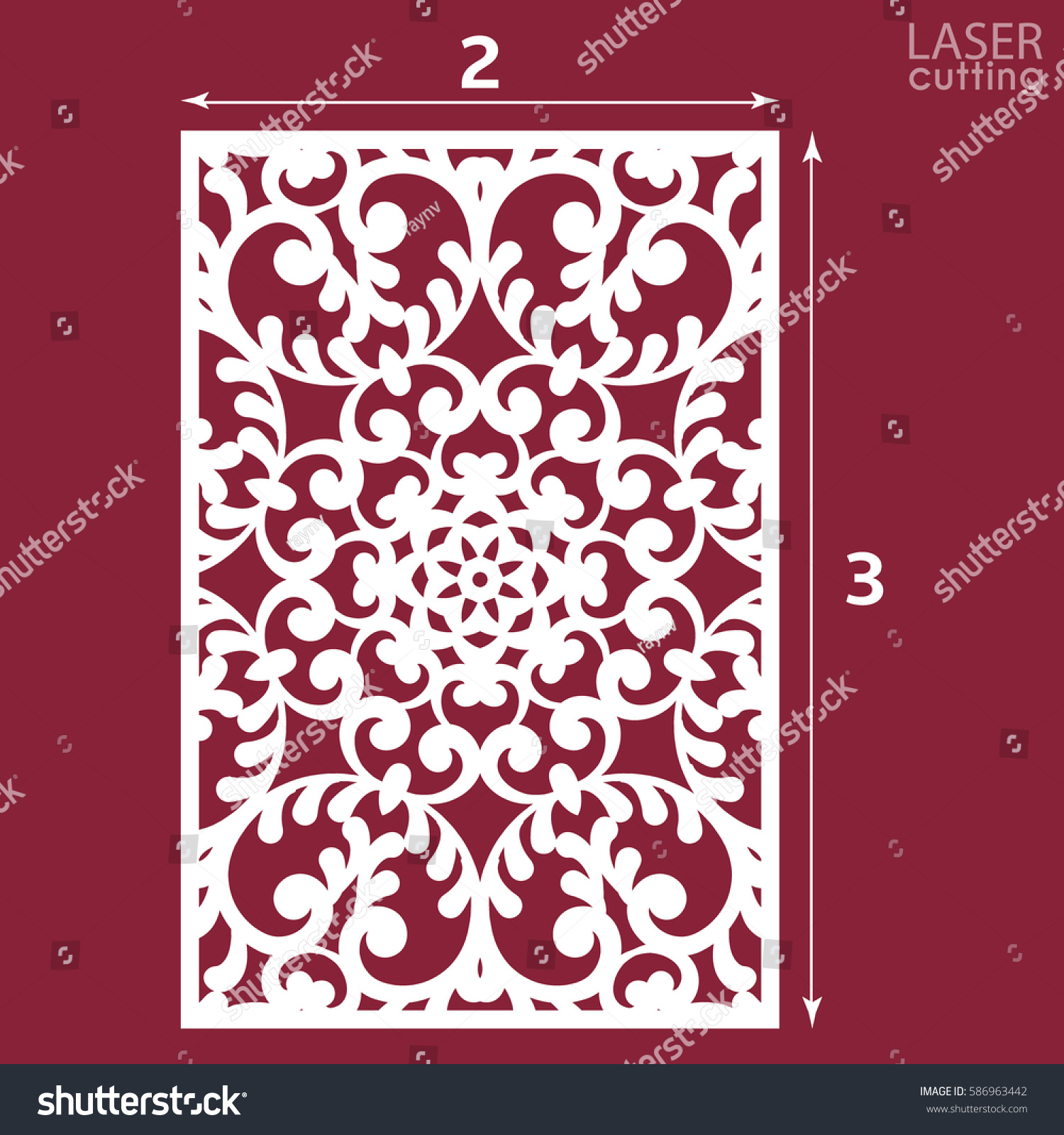 Laser Cut Ornamental Panel Pattern May Stock Vector 586963442 ...