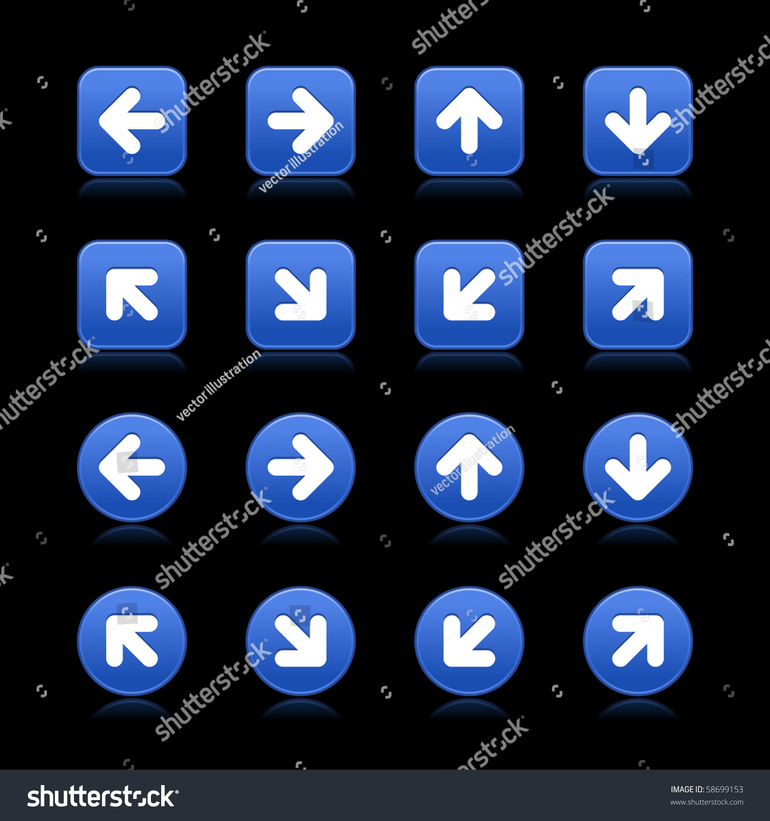 Arrow Symbol Web 20 Internet Buttons Stock Vector Royalty Free