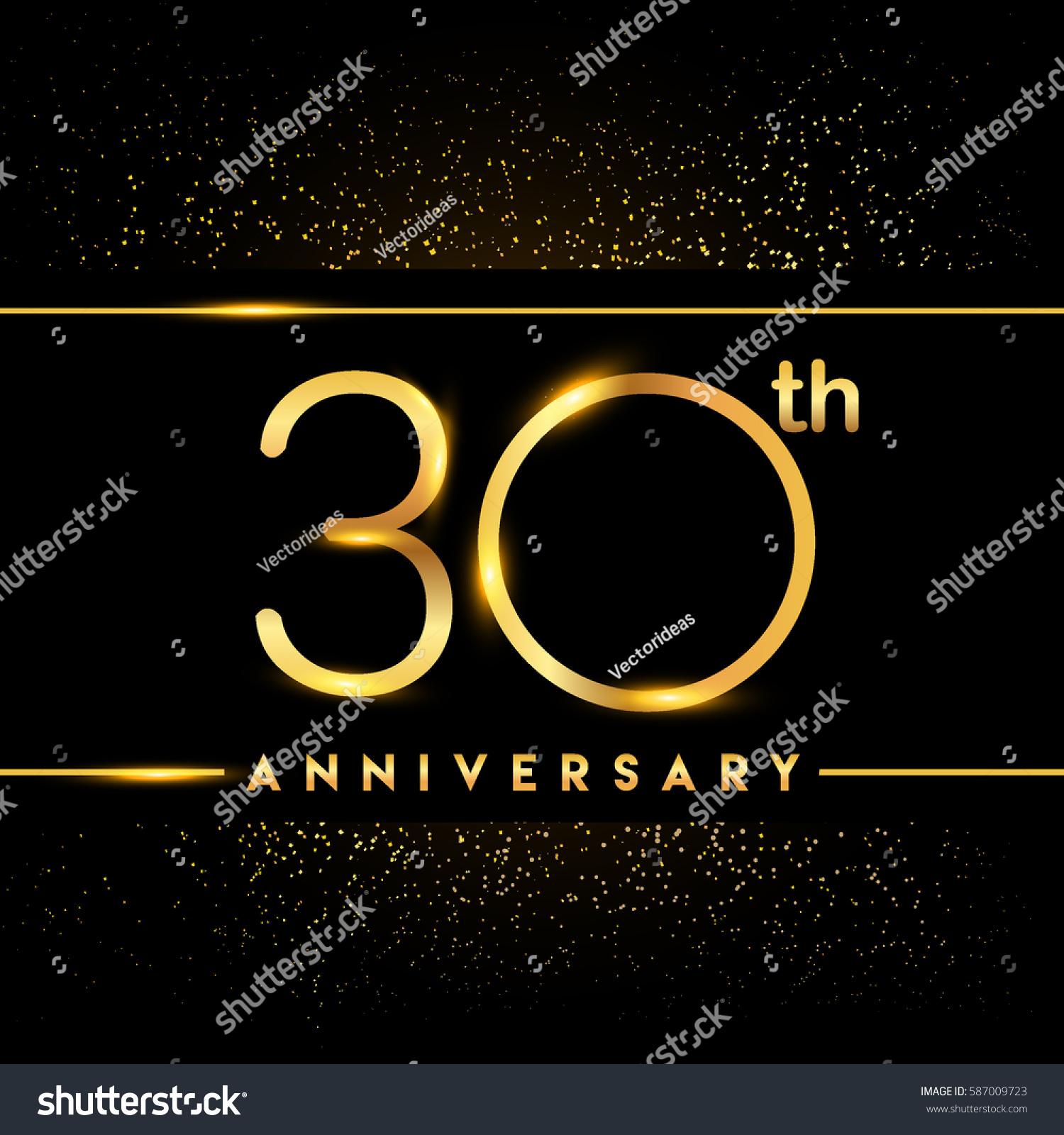 30 Year Anniversary Symbol: Thirty Years Anniversary Celebration Logotype 30th Stock