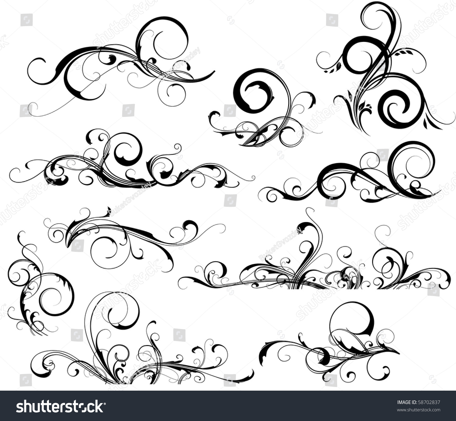 Collection Design Elements Stock Vector 58702837 - Shutterstock