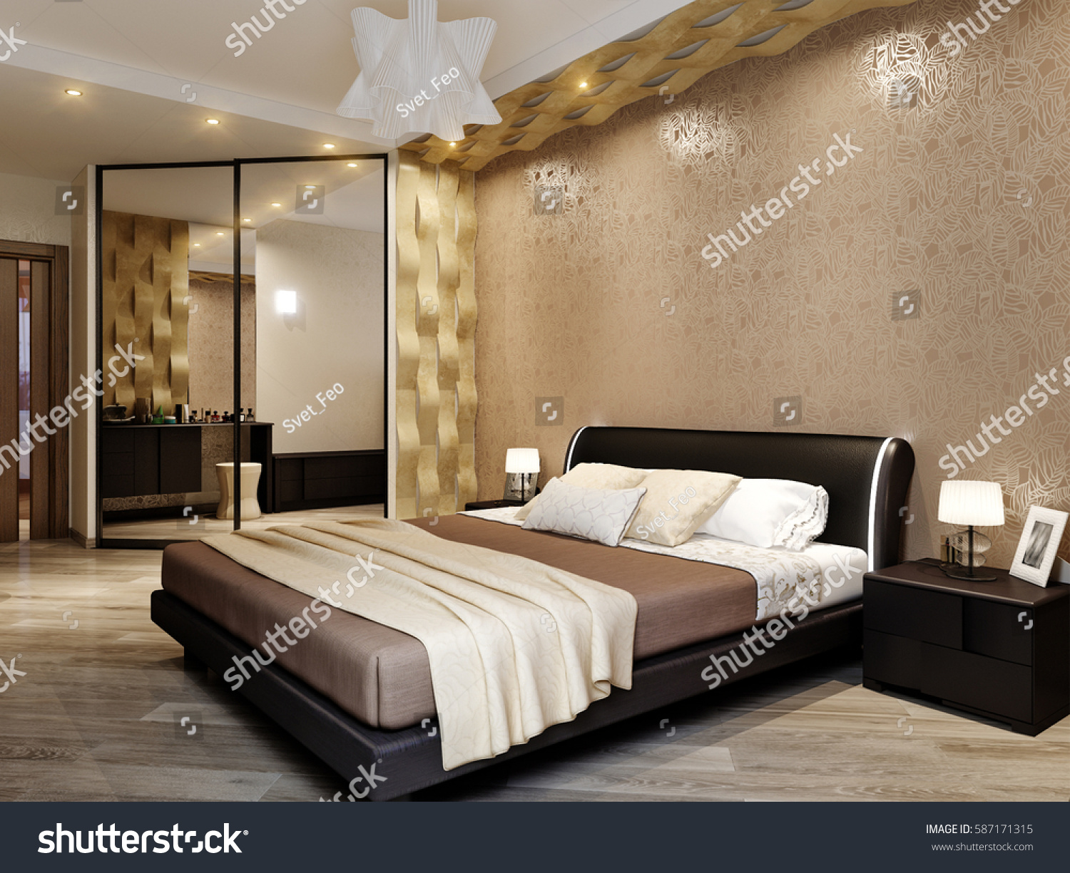 modern bedroom interior 3d render modern bedroom interior design 3d rendering stock 923