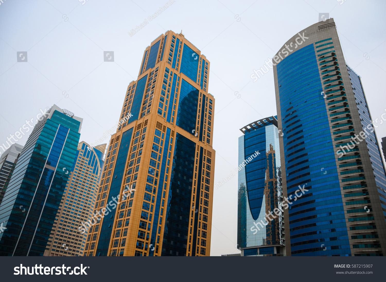 Skyscrapers Dubai Modern Architecture Stock Photo Edit Now