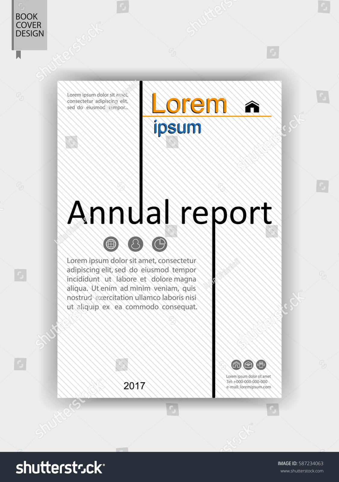 Annual Report Book Cover Design : Cover design books annual reports banners stock vector