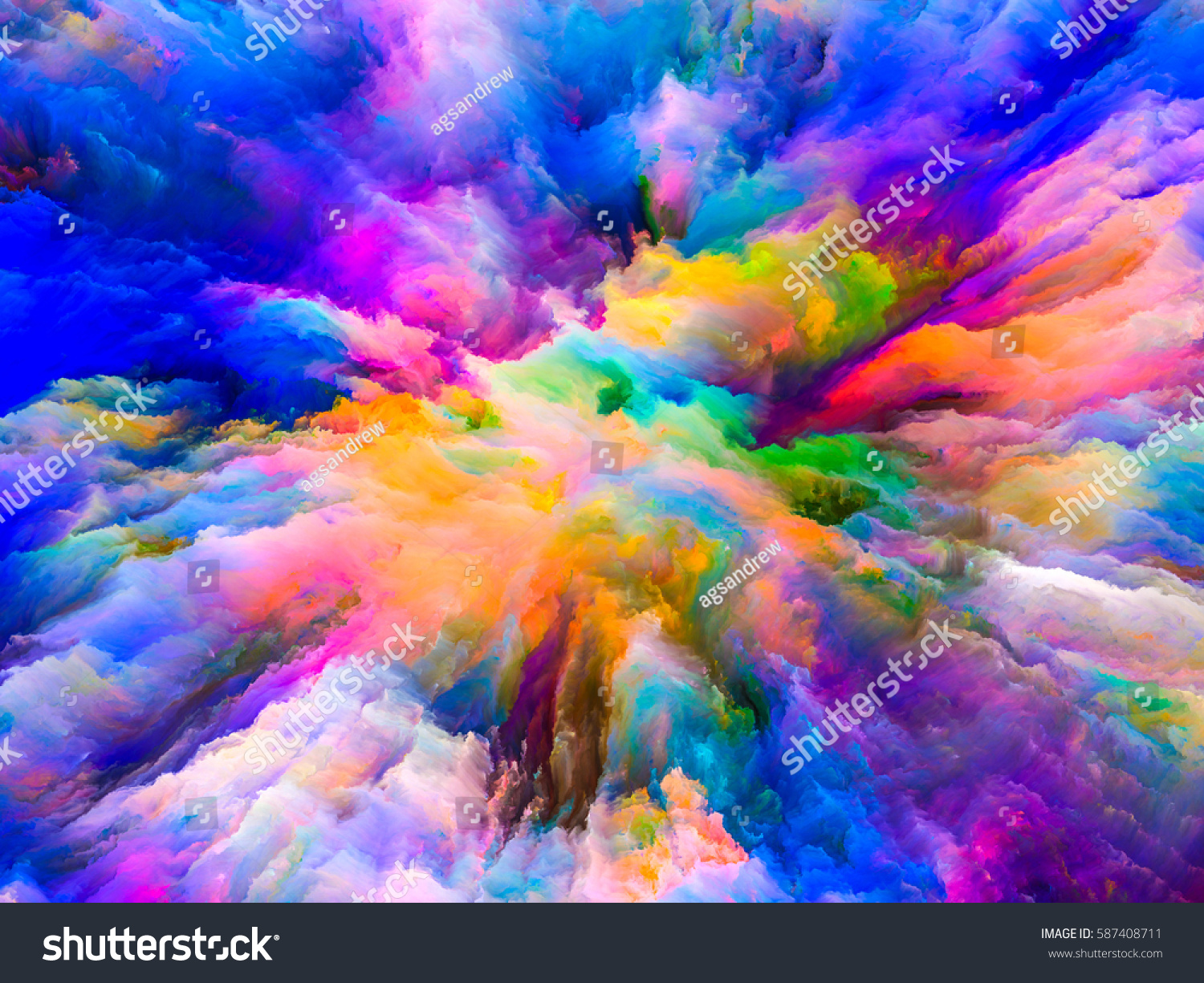 color explosion series composition of fractal paint and rich