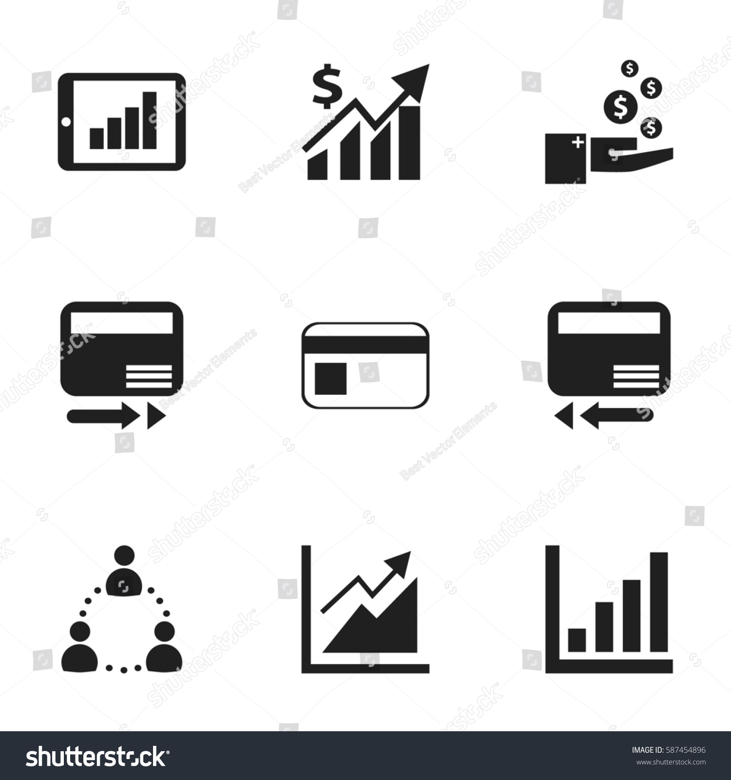 Set 9 Logical Icons Includes Symbols Stock Illustration 587454896