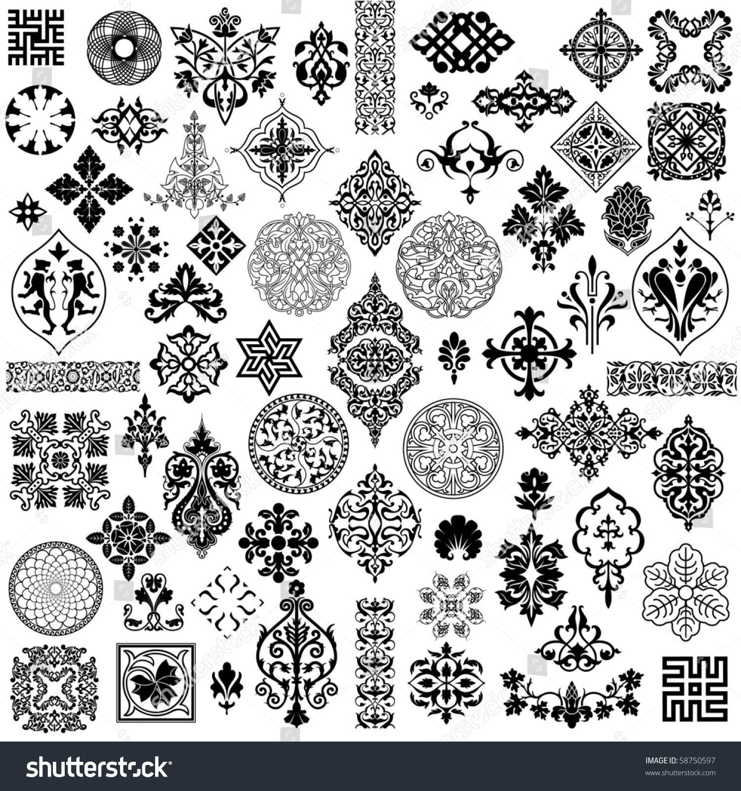 Different style design elements. Different Style Design Elements Stock Vector 58750597   Shutterstock