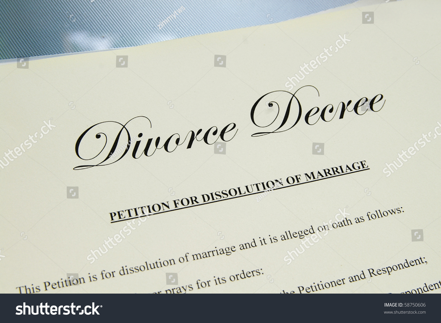 legal term for divorce papers