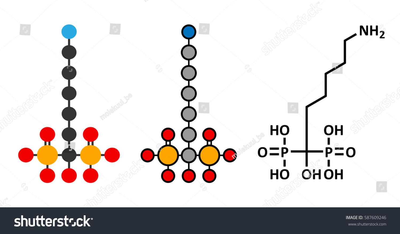 Neridronic Acid Drug Molecule Used Treatment Stock Vector